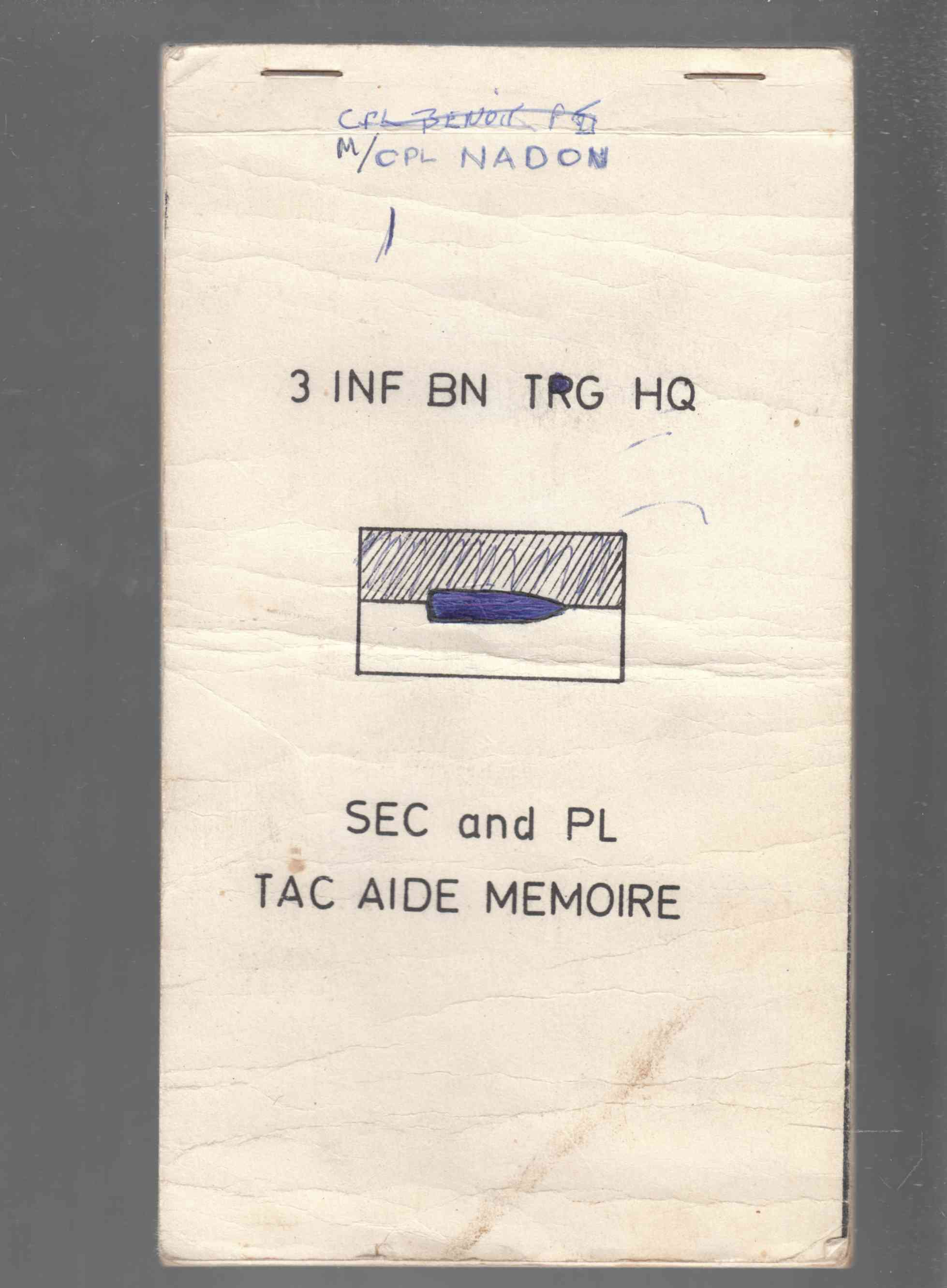 Image for Sec and Pl Tac Aide Memoire