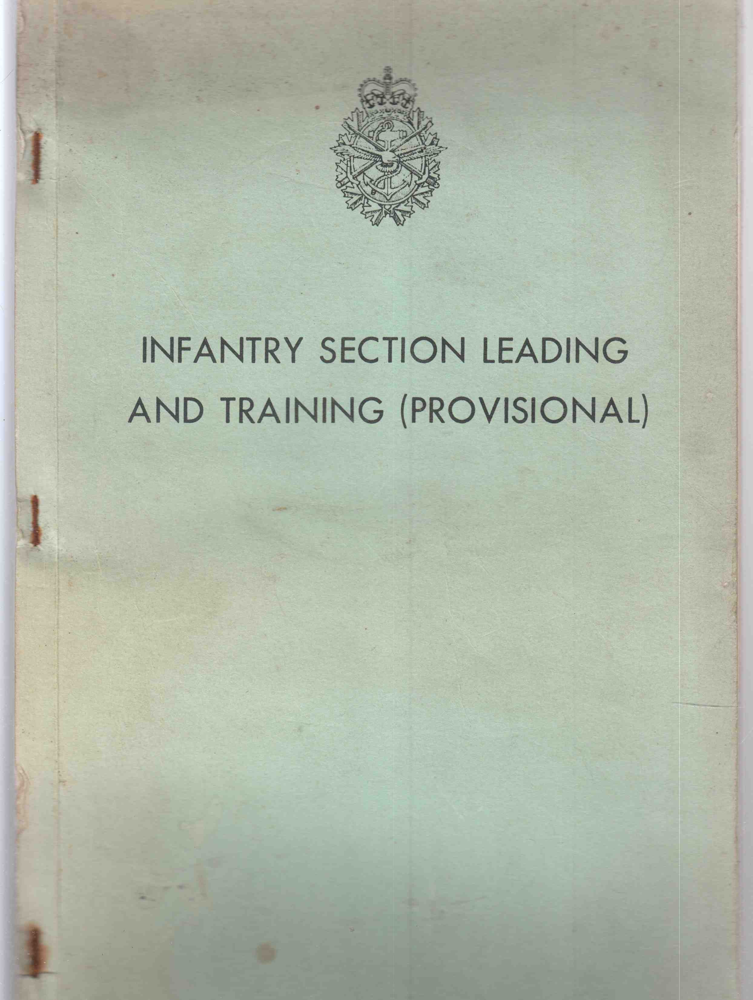 Image for Infantry Section Leading and Training (Provisional)