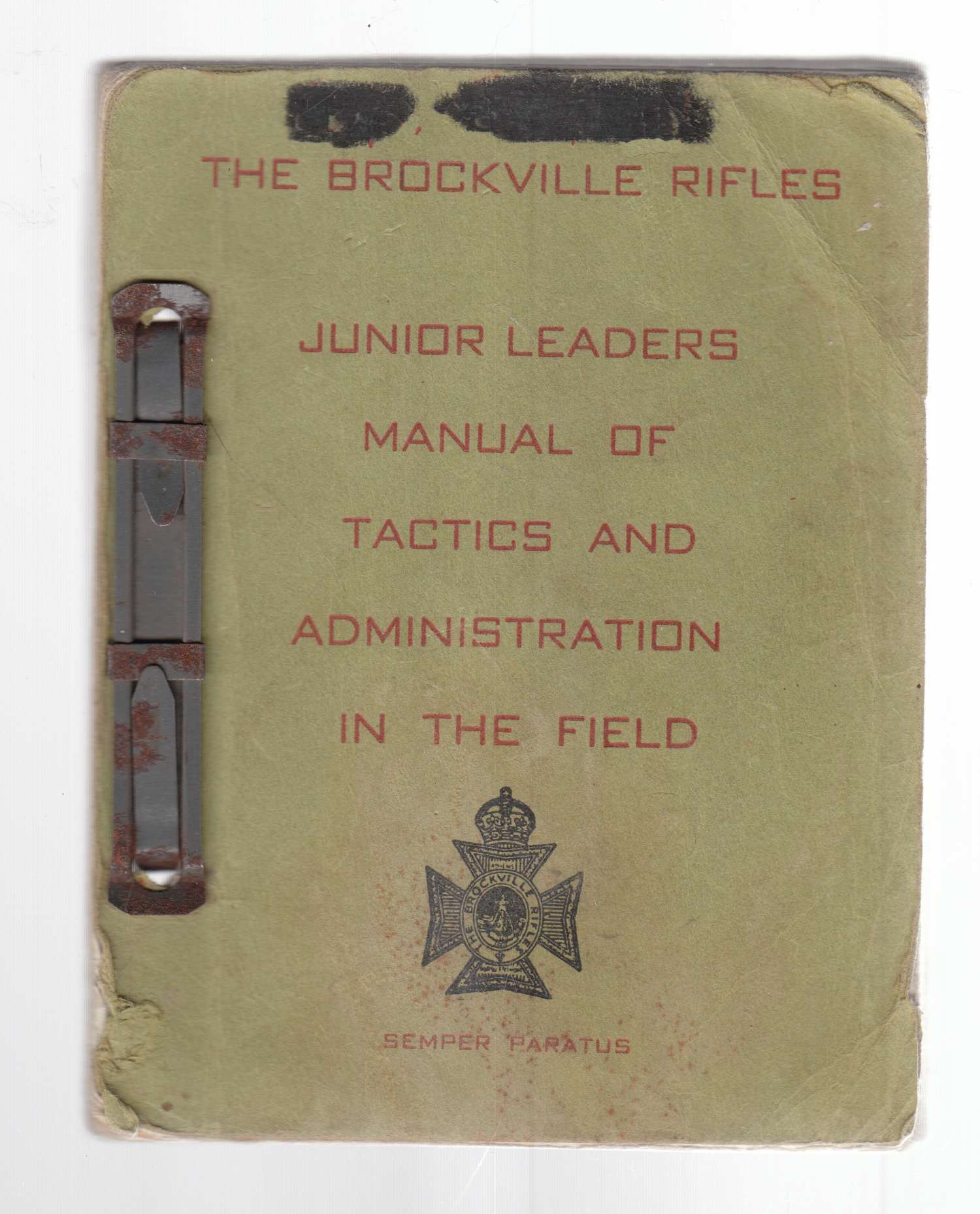 Image for Junior Leaders Manual of Tactics and Administration in the Field