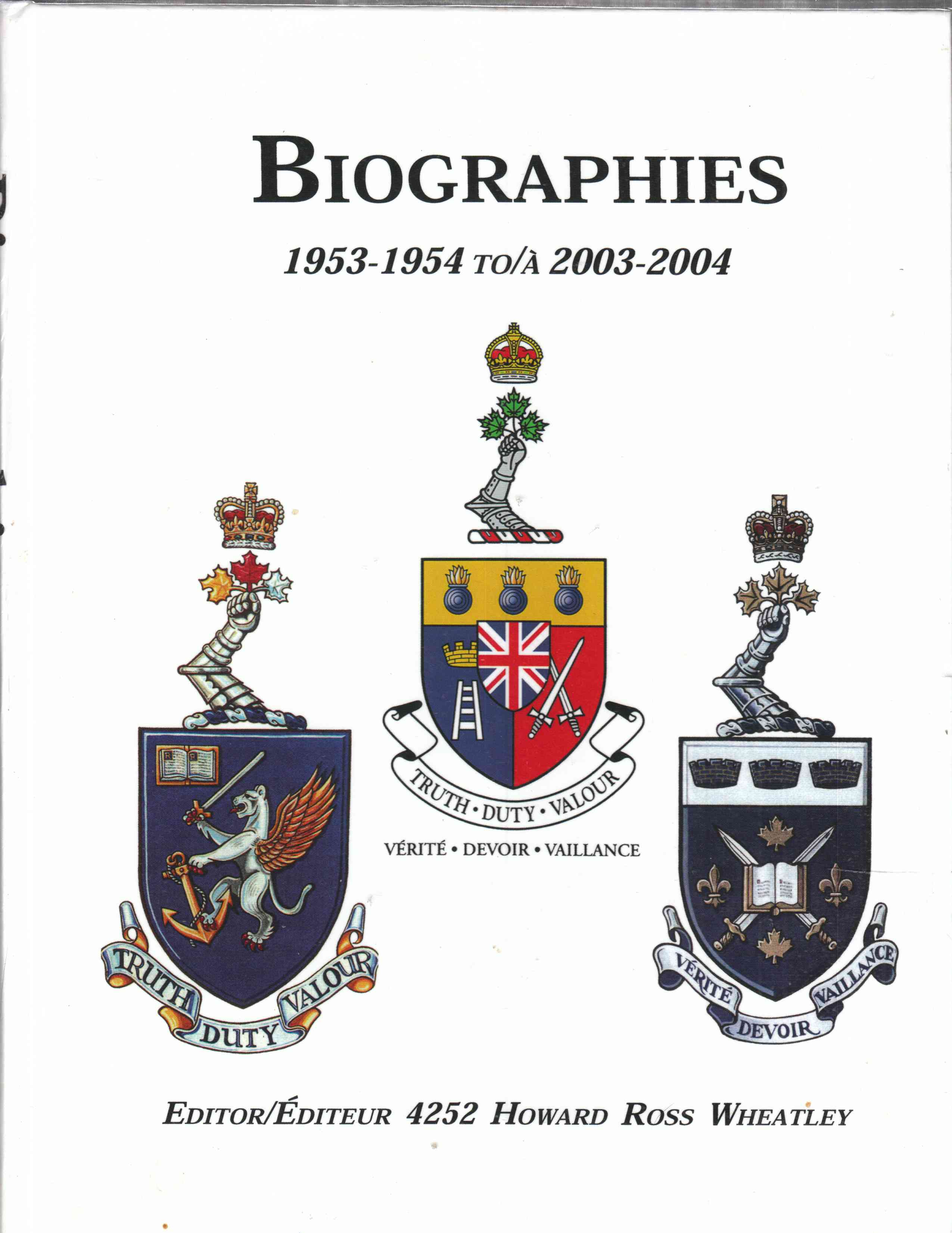 Image for Biographies 1953-1954  to/a 2003-2004