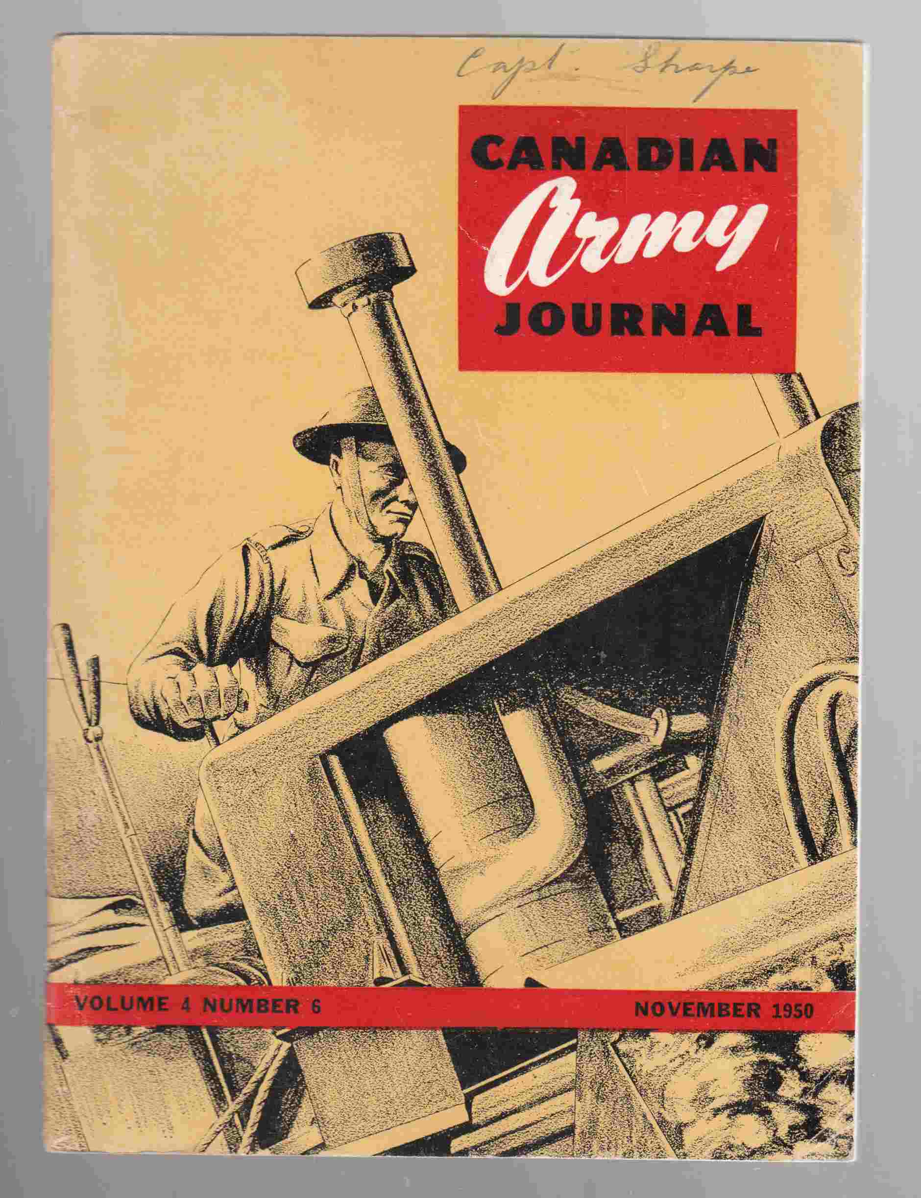 Image for Canadian Army Journal Volume 4 Number 6 November 1950