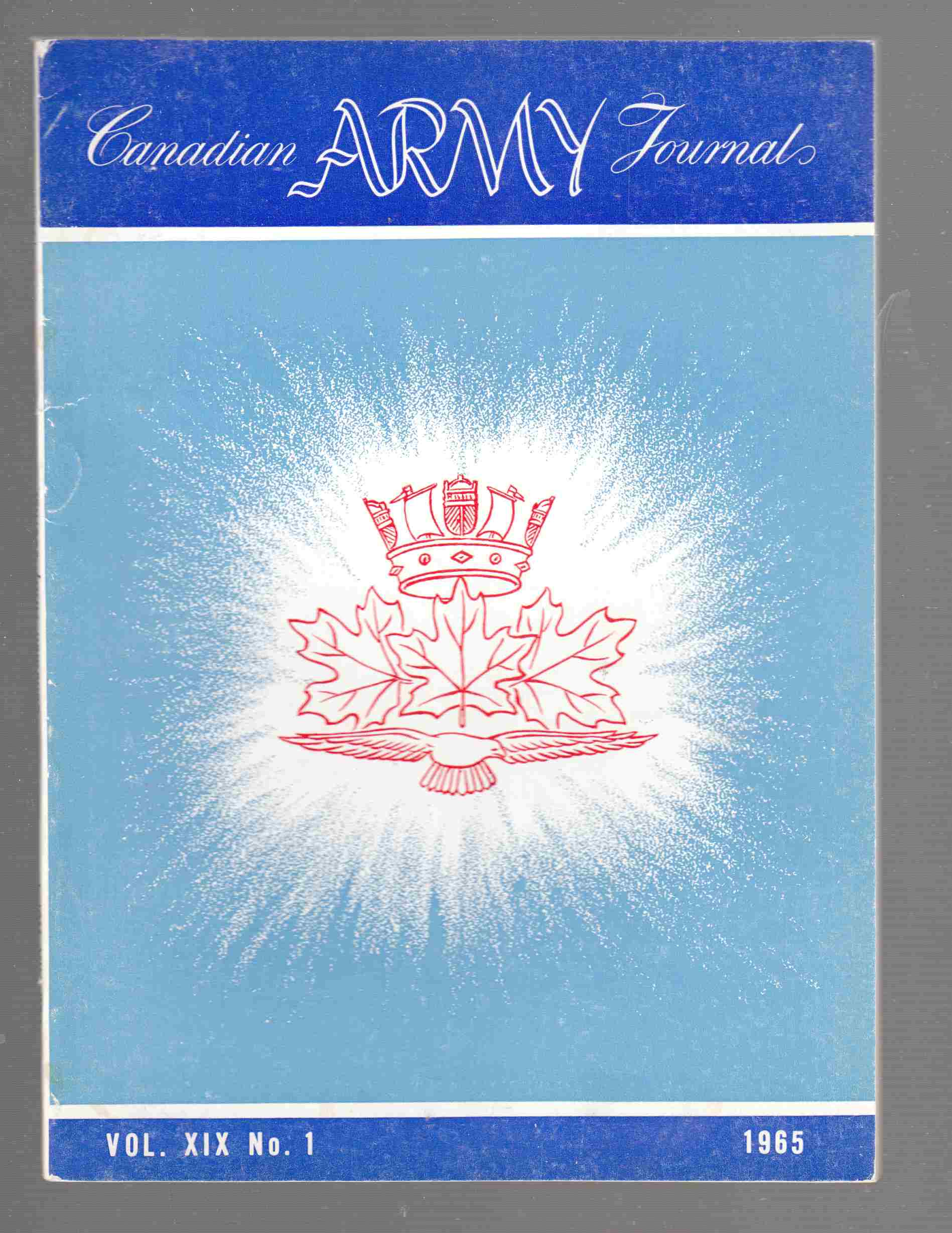 Image for The Canadian Army Journal Vol. XIX No. 1 1965