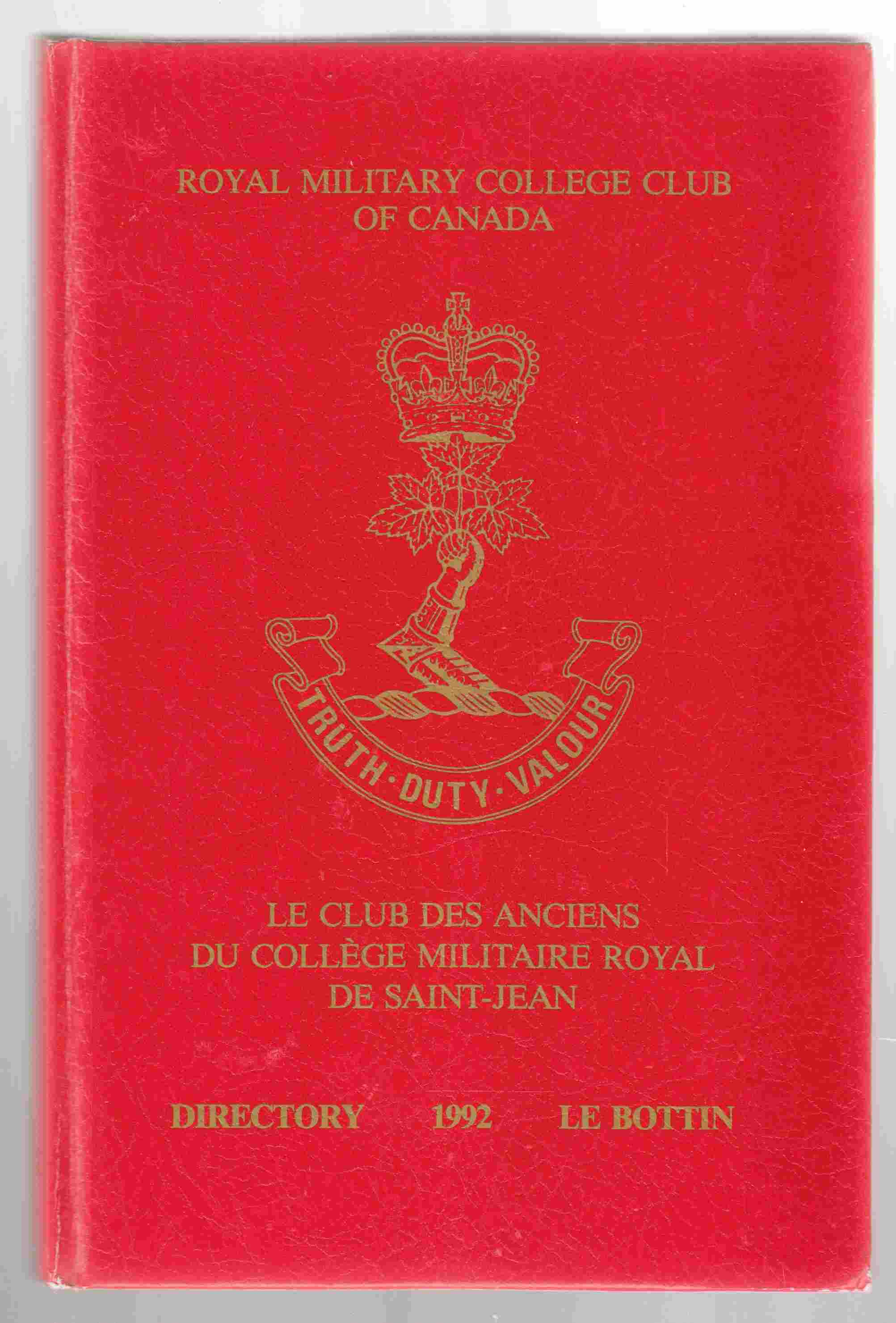 Image for Directory of Ex-Cadets 1992 Le Bottin Des Anciens