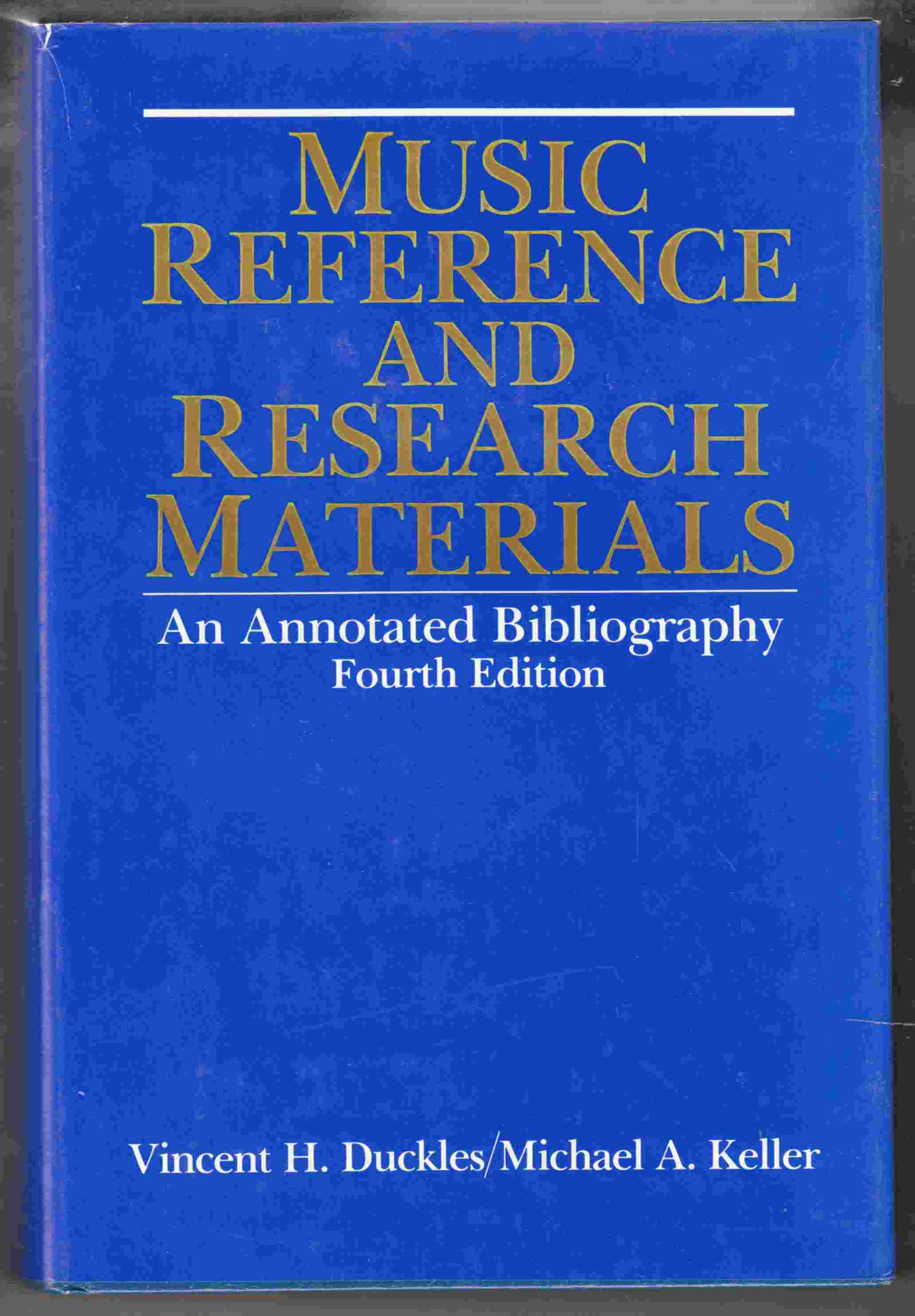 Image for Music Reference and Research Materials An Annotated Bibliography Fourth Edition