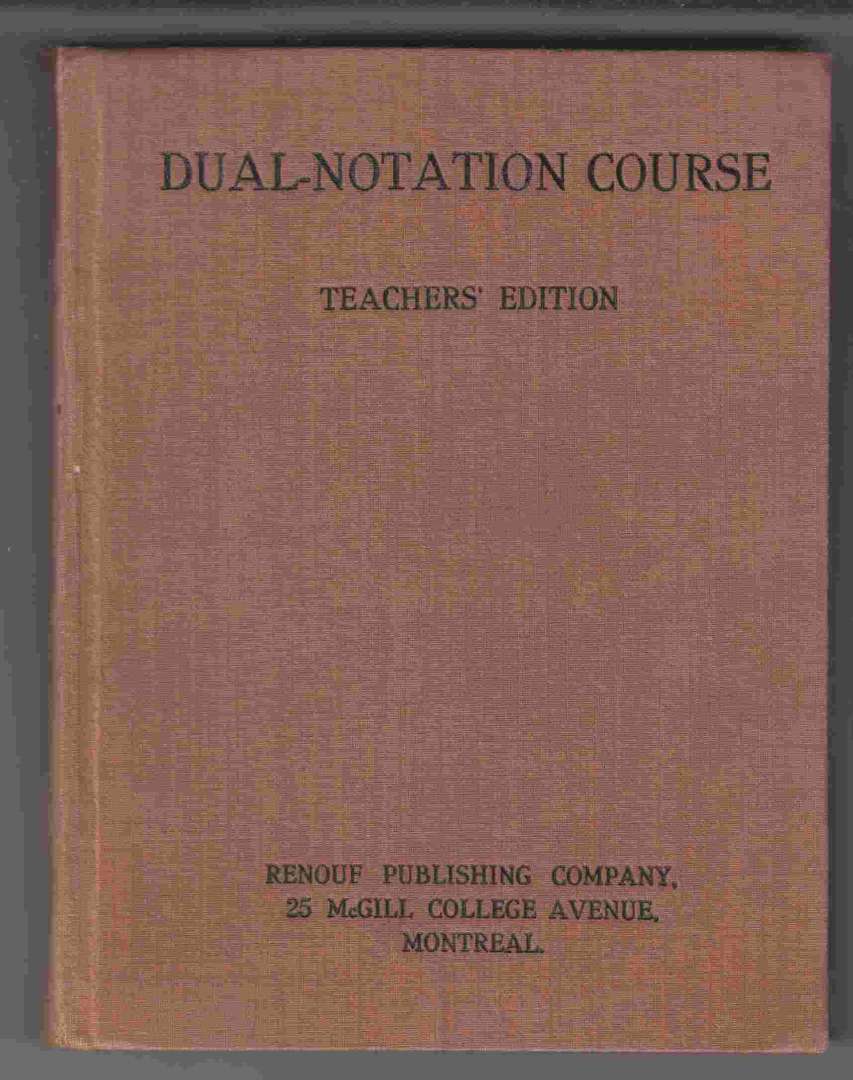 Image for Dual Notation Course Books I-IV Teachers Edition