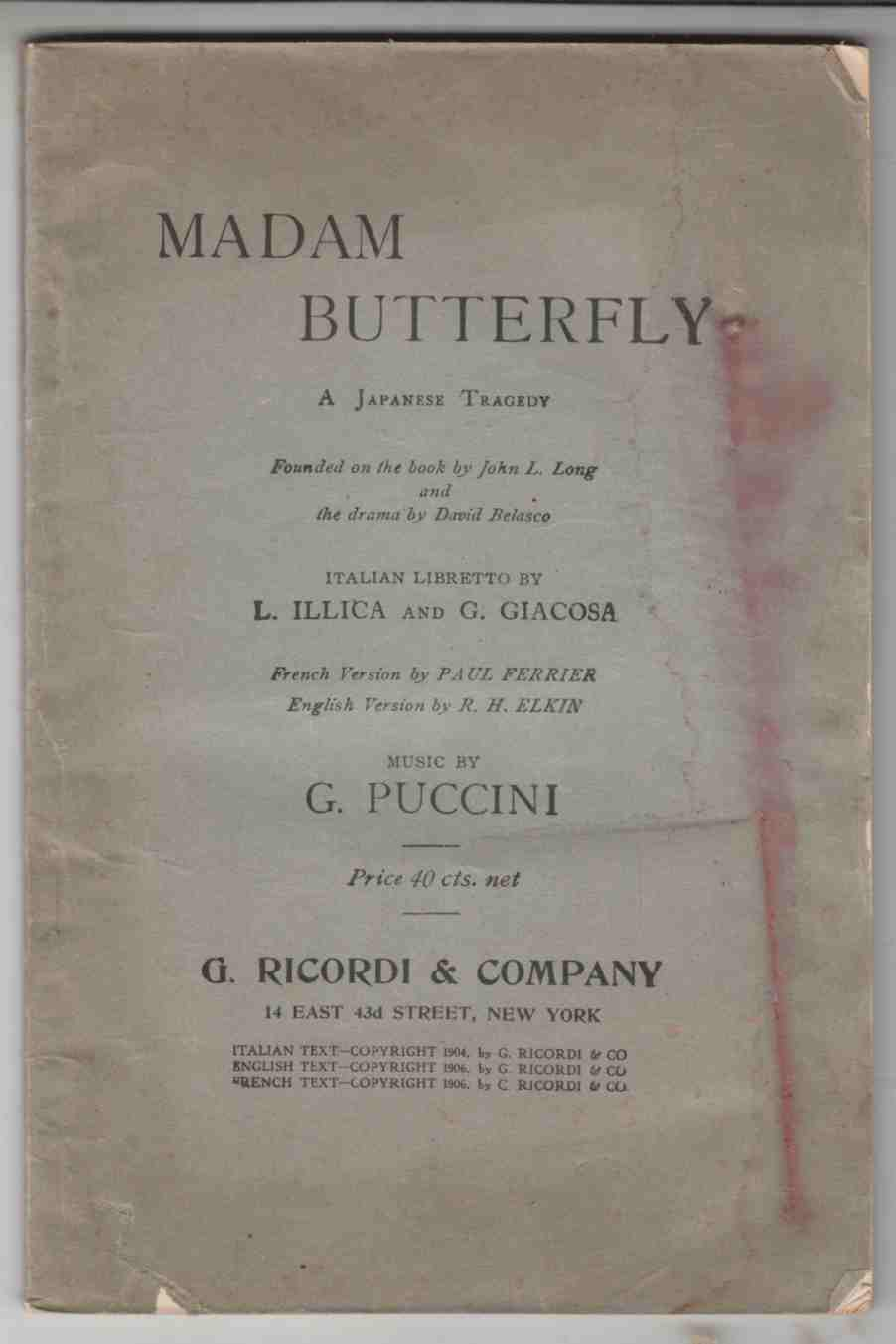 Image for Madam Butterfly A Japanese Tragedy