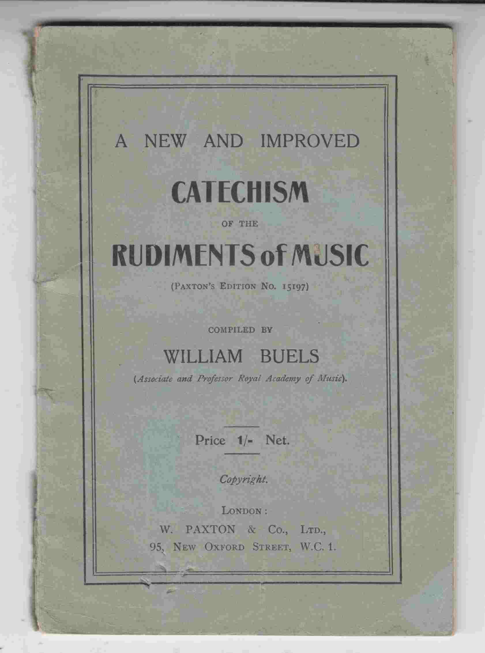 Image for A New and Improved Catechism of the Rudiments of Music