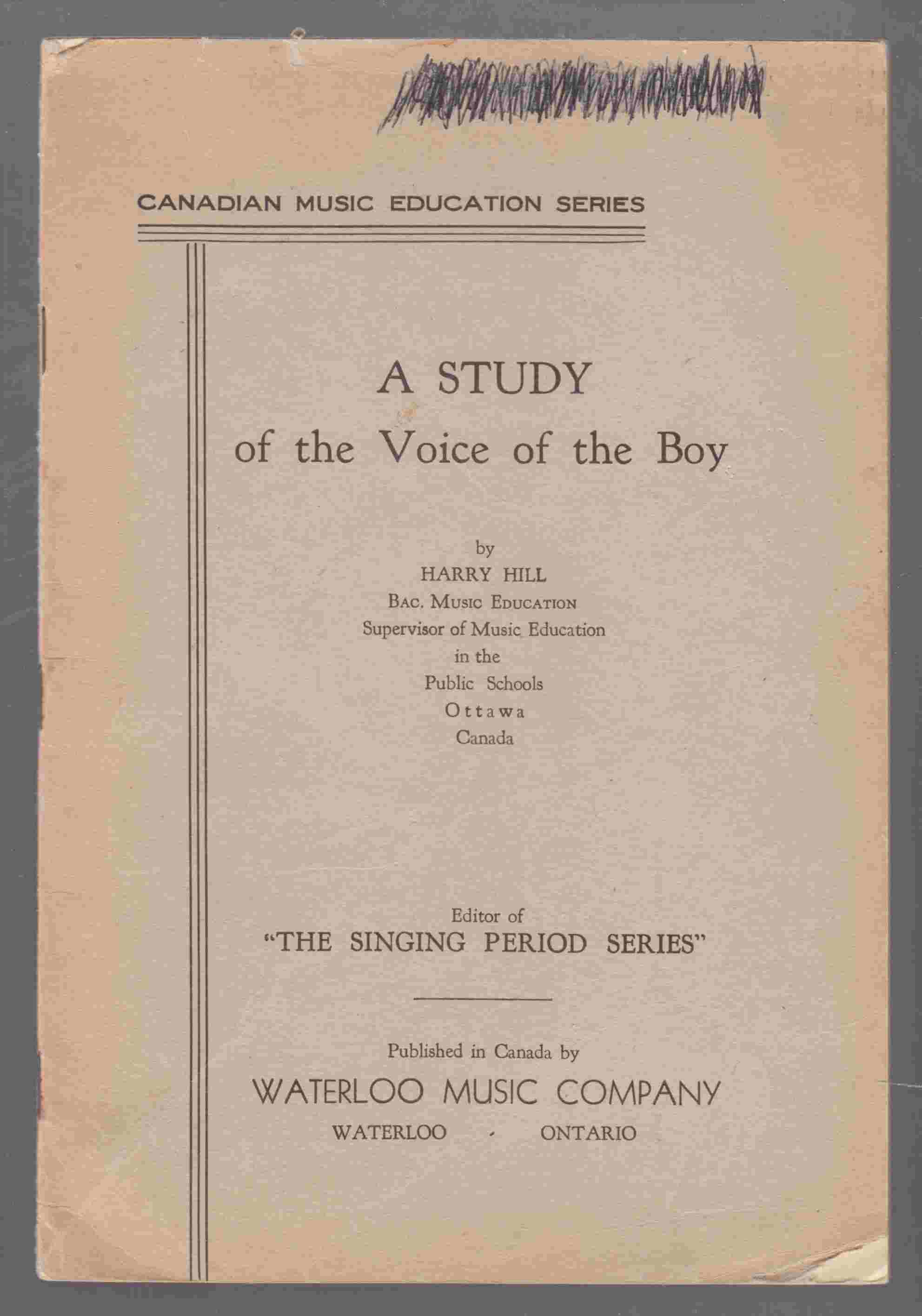 Image for A Study of the Voice of a Boy