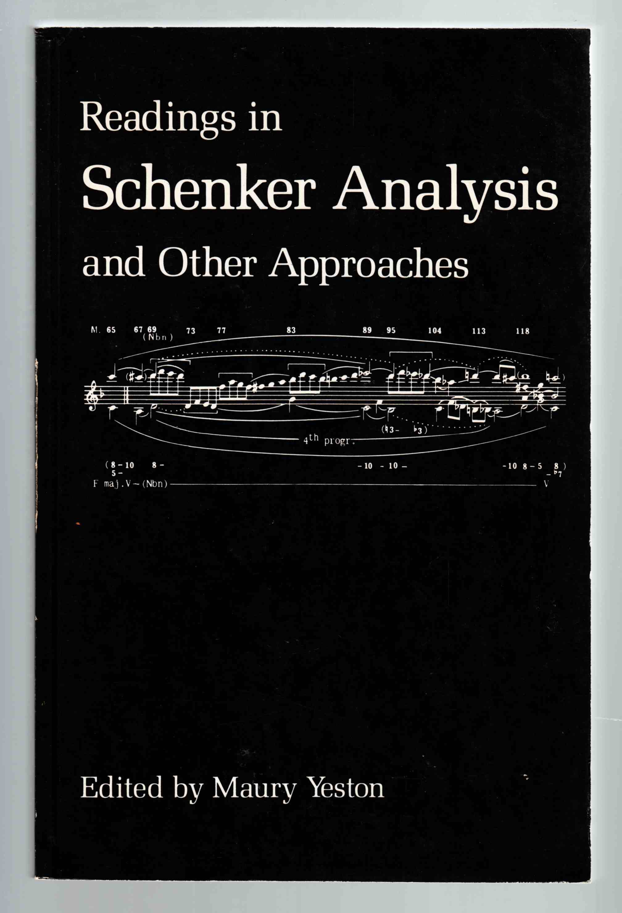 Image for Readings in Schenker Analysis and Other Approaches