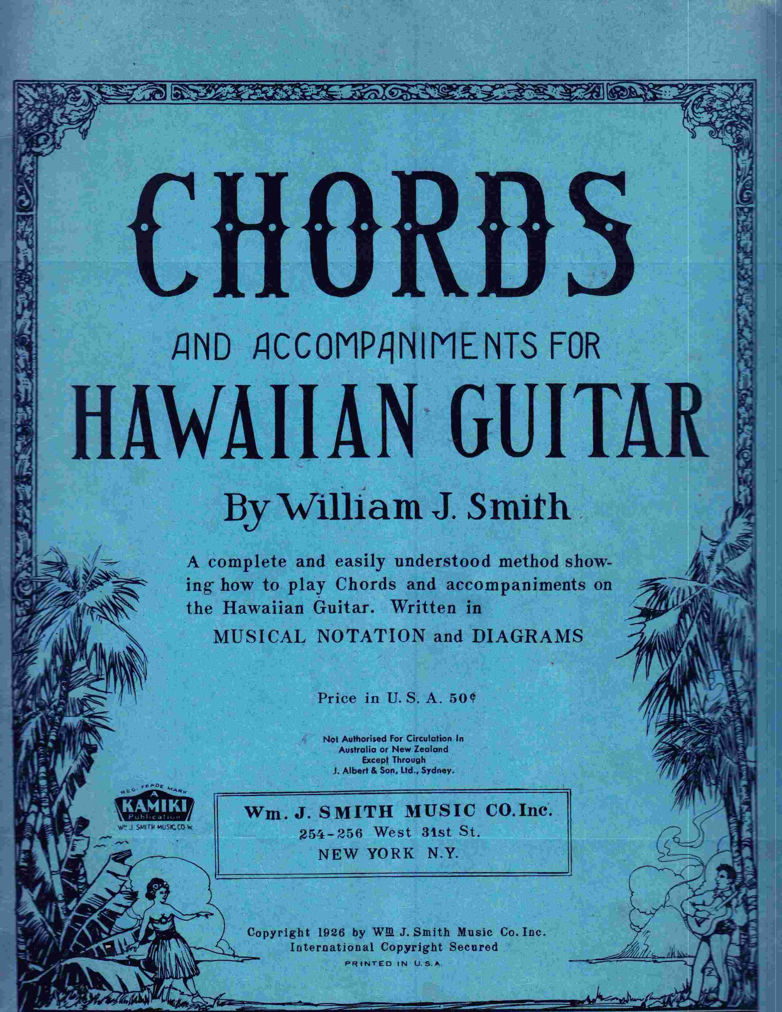 Chords And Accompaniments For Hawaiian Guitar