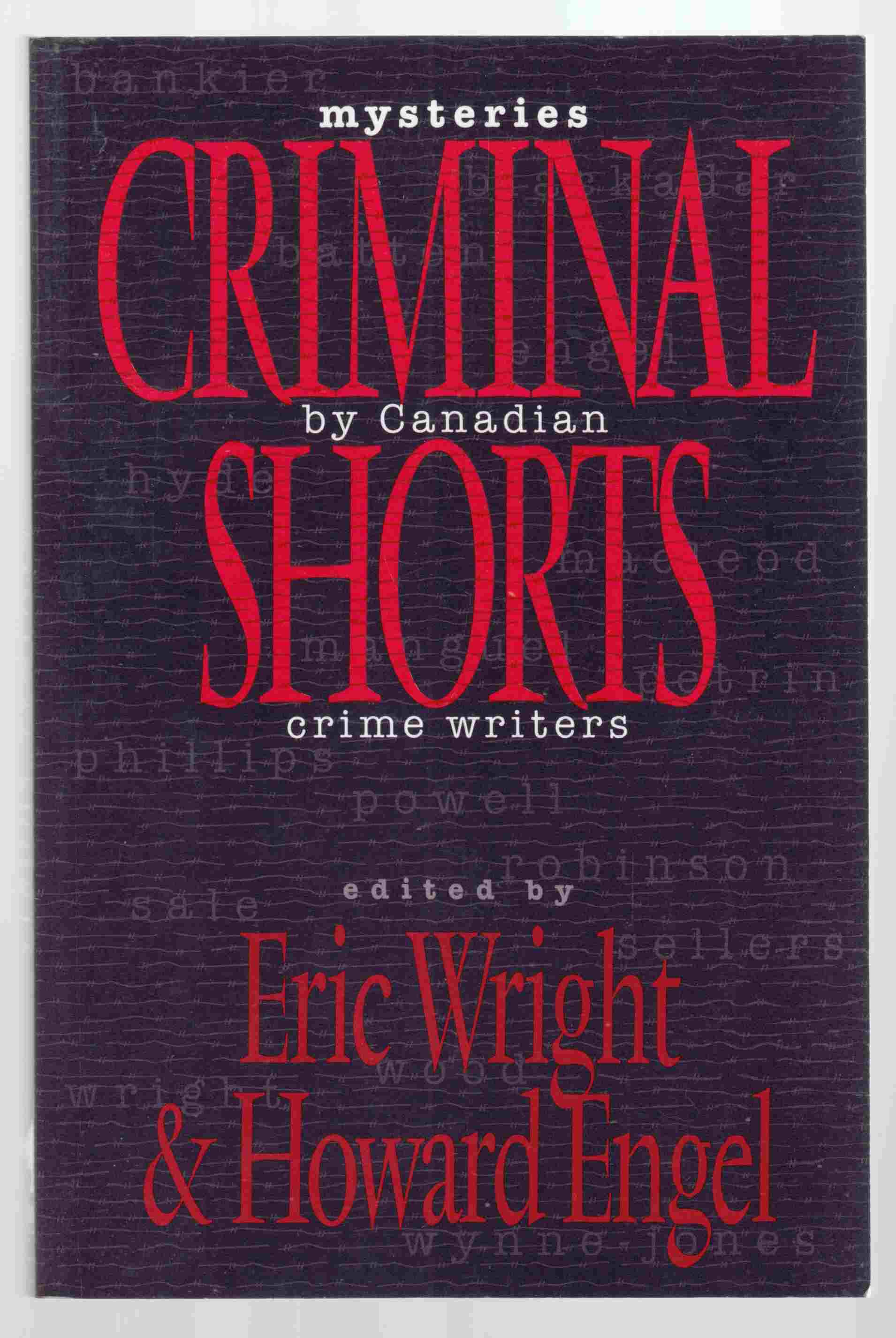 Image for Criminal Shorts Mysteries by Canadian Crime Writers