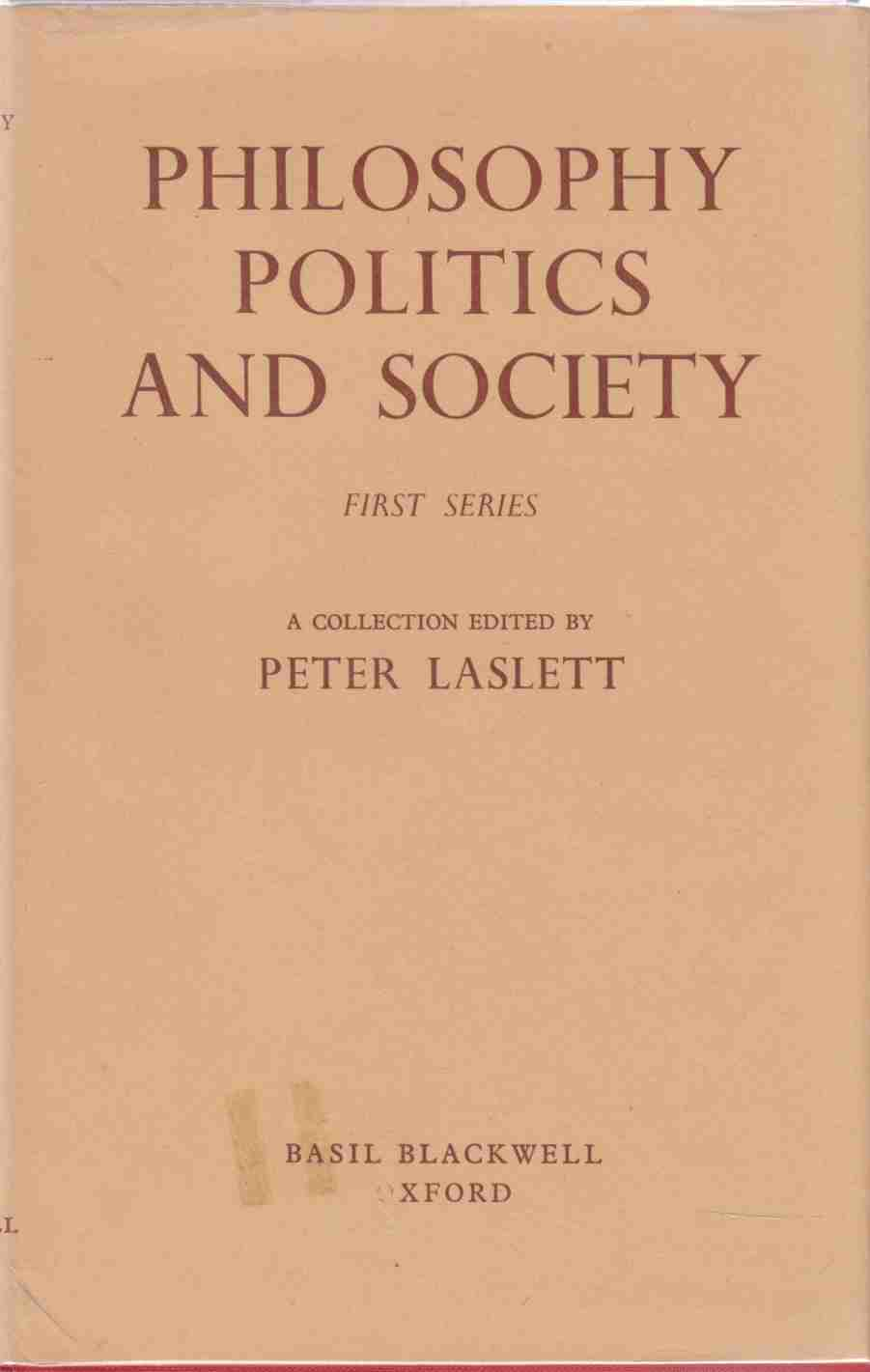 Image for Philosophy, Politics and Society First Series