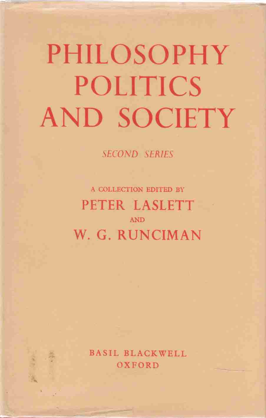 Image for Philosophy, Politics and Society Second Series