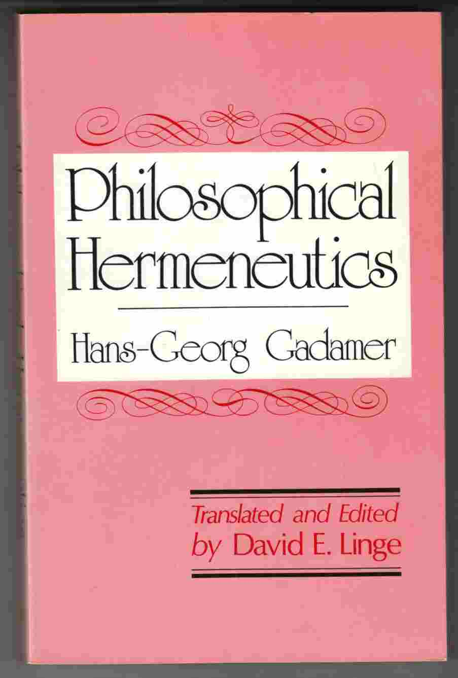 Image for Philosophical Hermeneutics