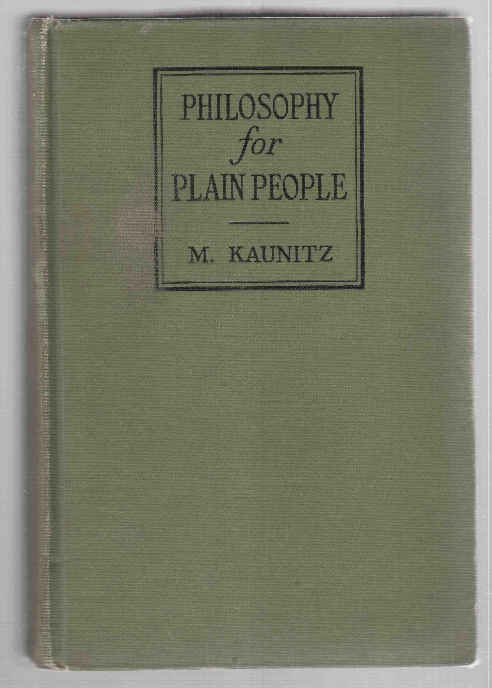 Image for Philosophy for Plain People