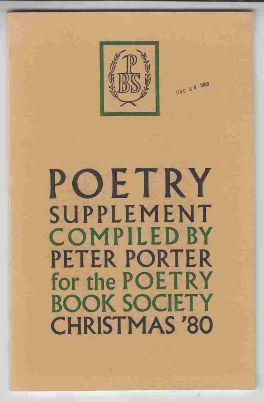 Image for Poetry Supplement Christmas '80