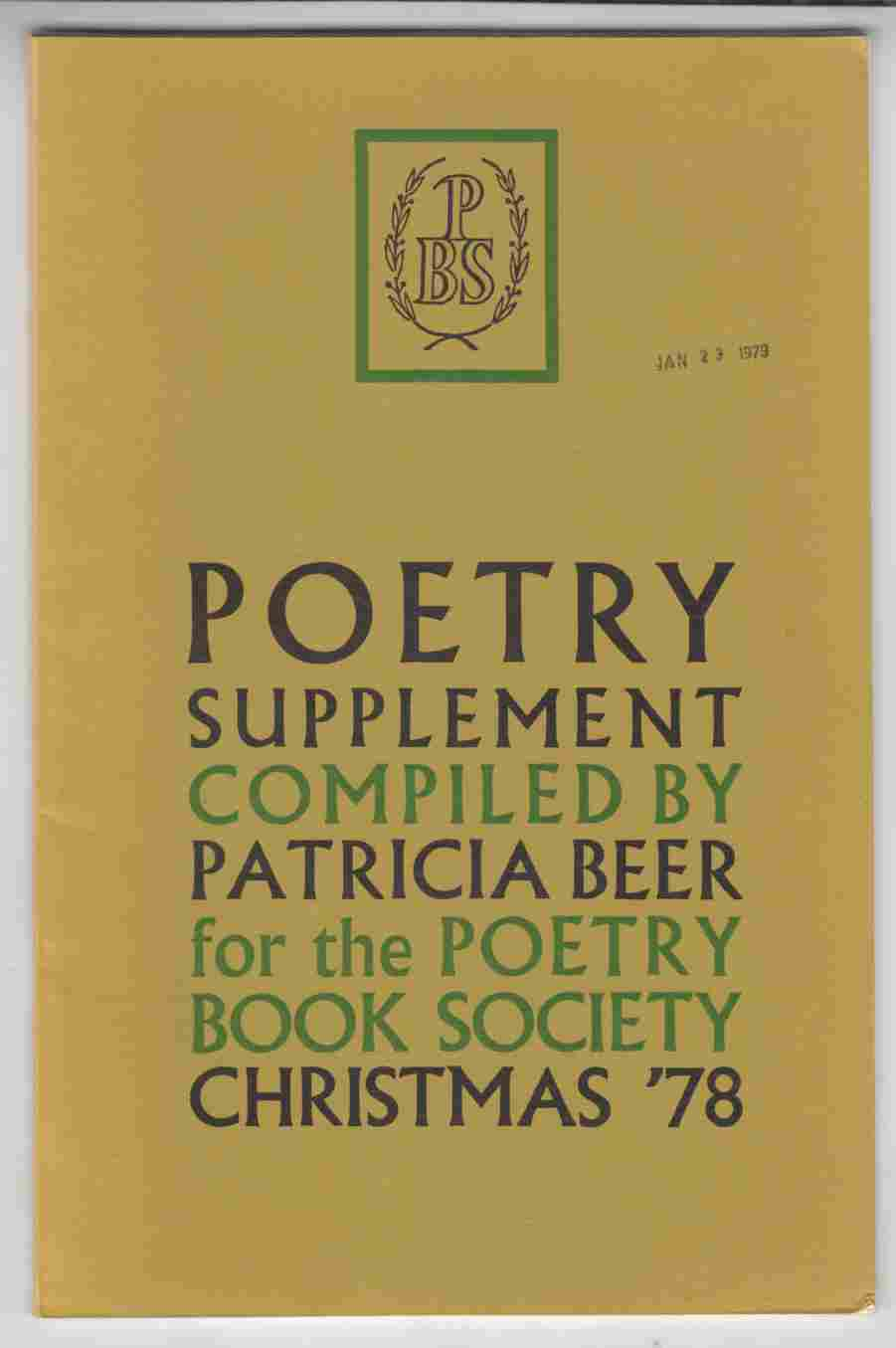 Image for Poetry Supplement Christmas '78