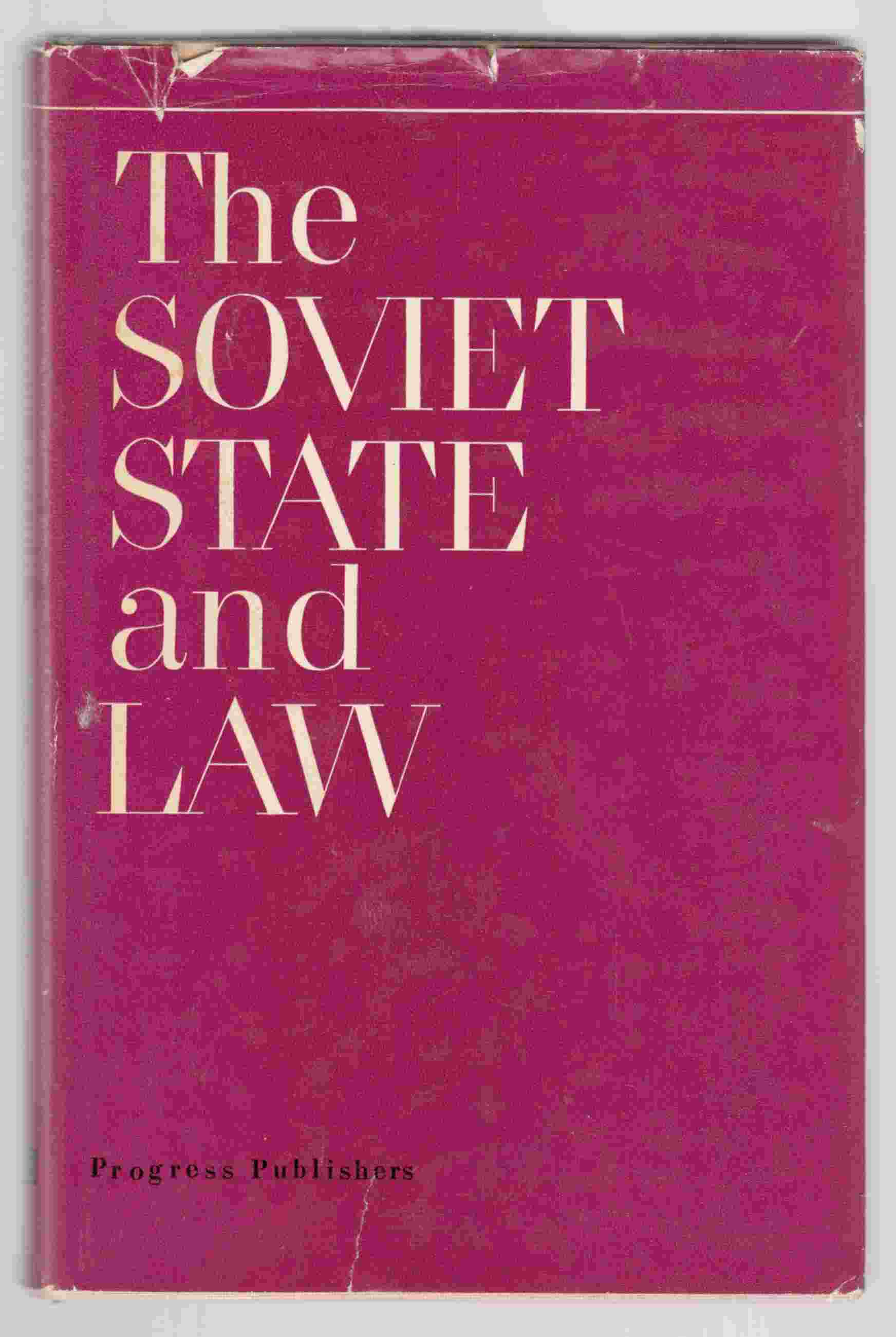 Image for The Soviet State and Law