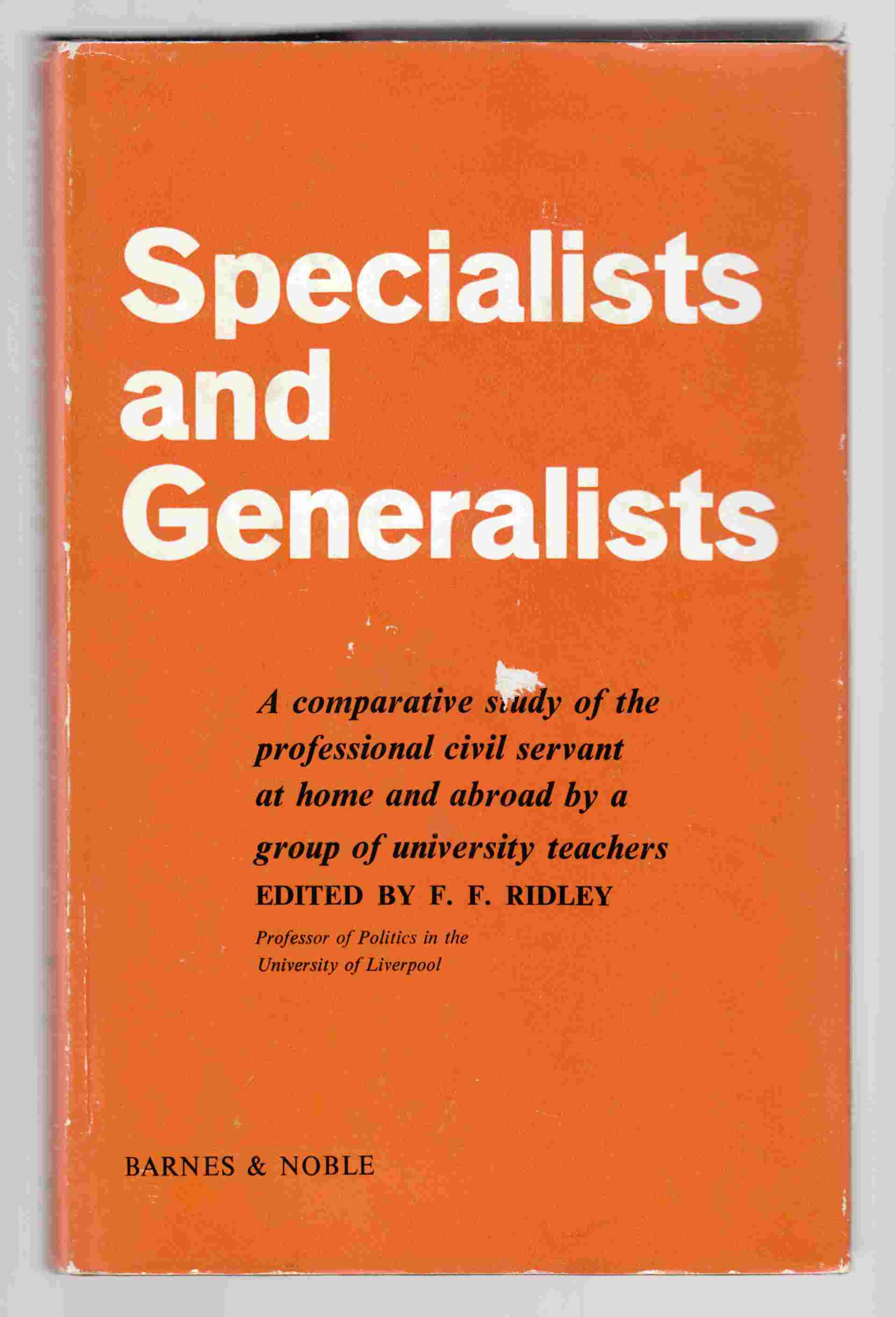 Image for Specialists and Generalists