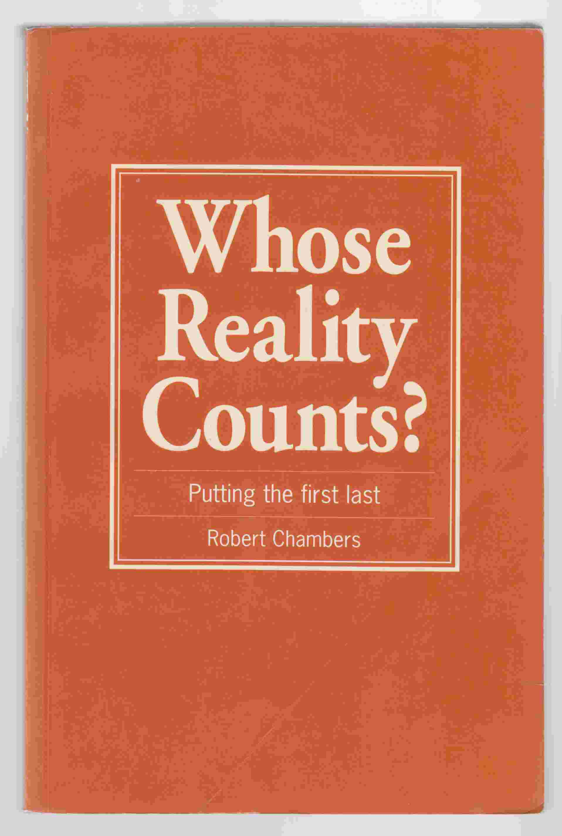 Image for Whose Reality Counts?  Putting the First Last