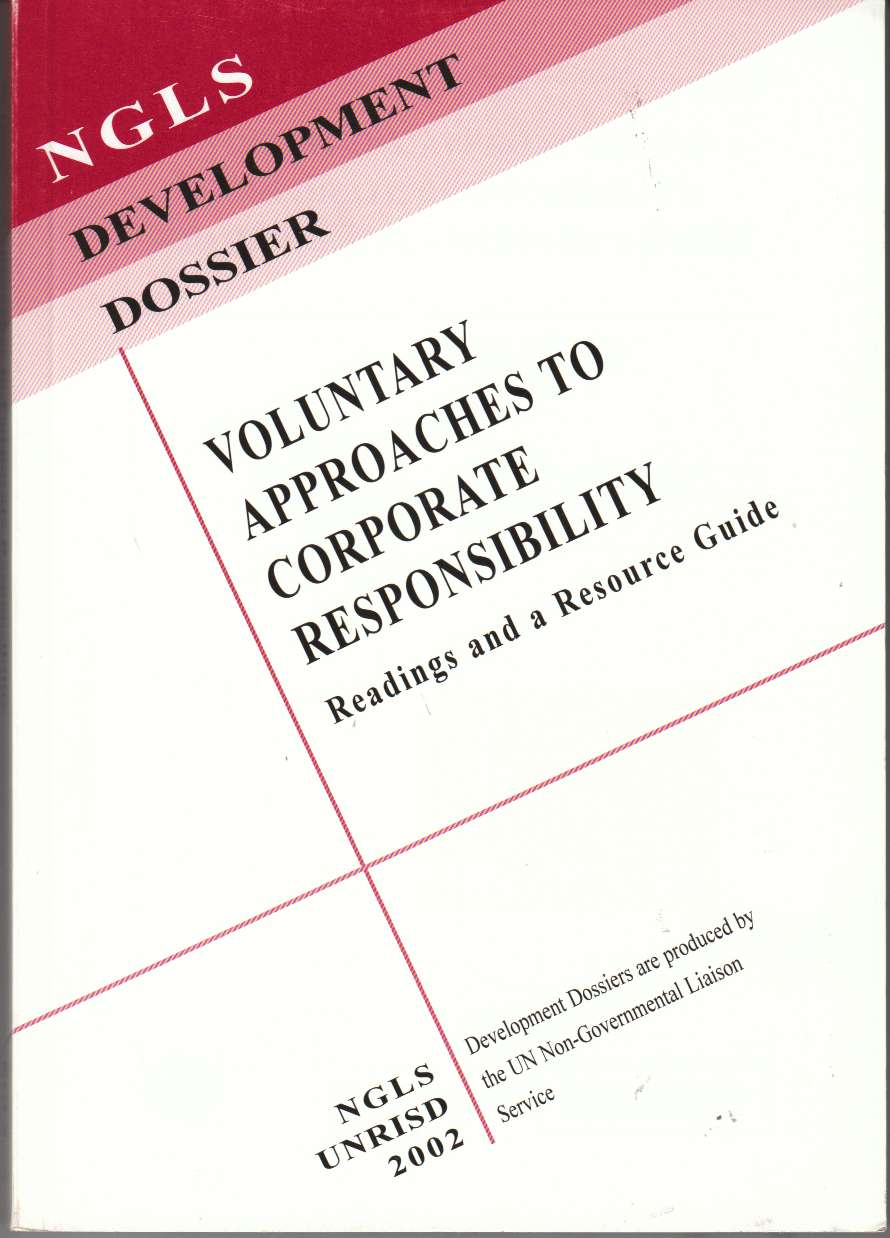 Image for Voluntary Approaches to Corporate Responsibility Readings and a Resource Guide
