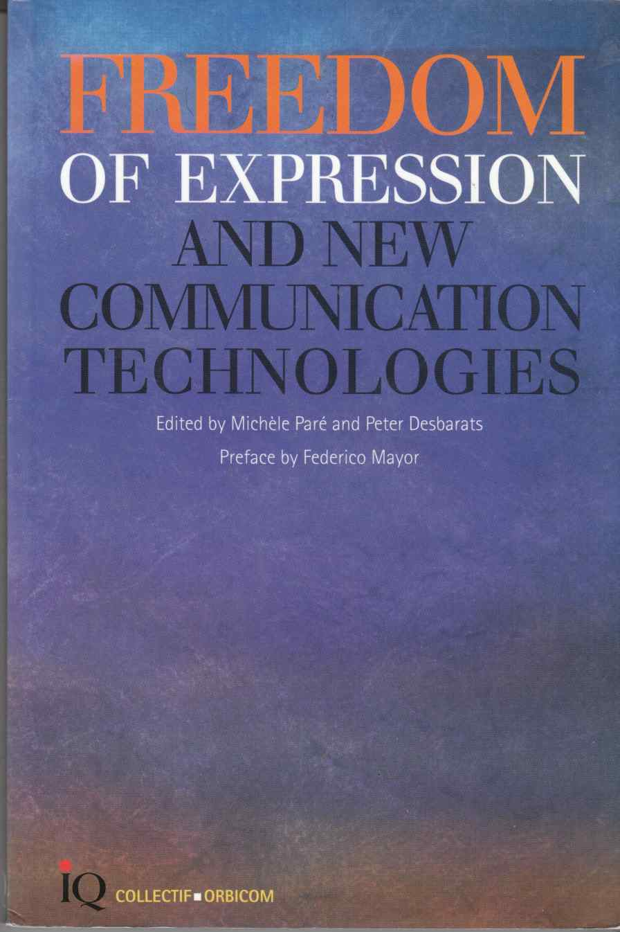 Image for Freedom of Expression and New Communication Technologies