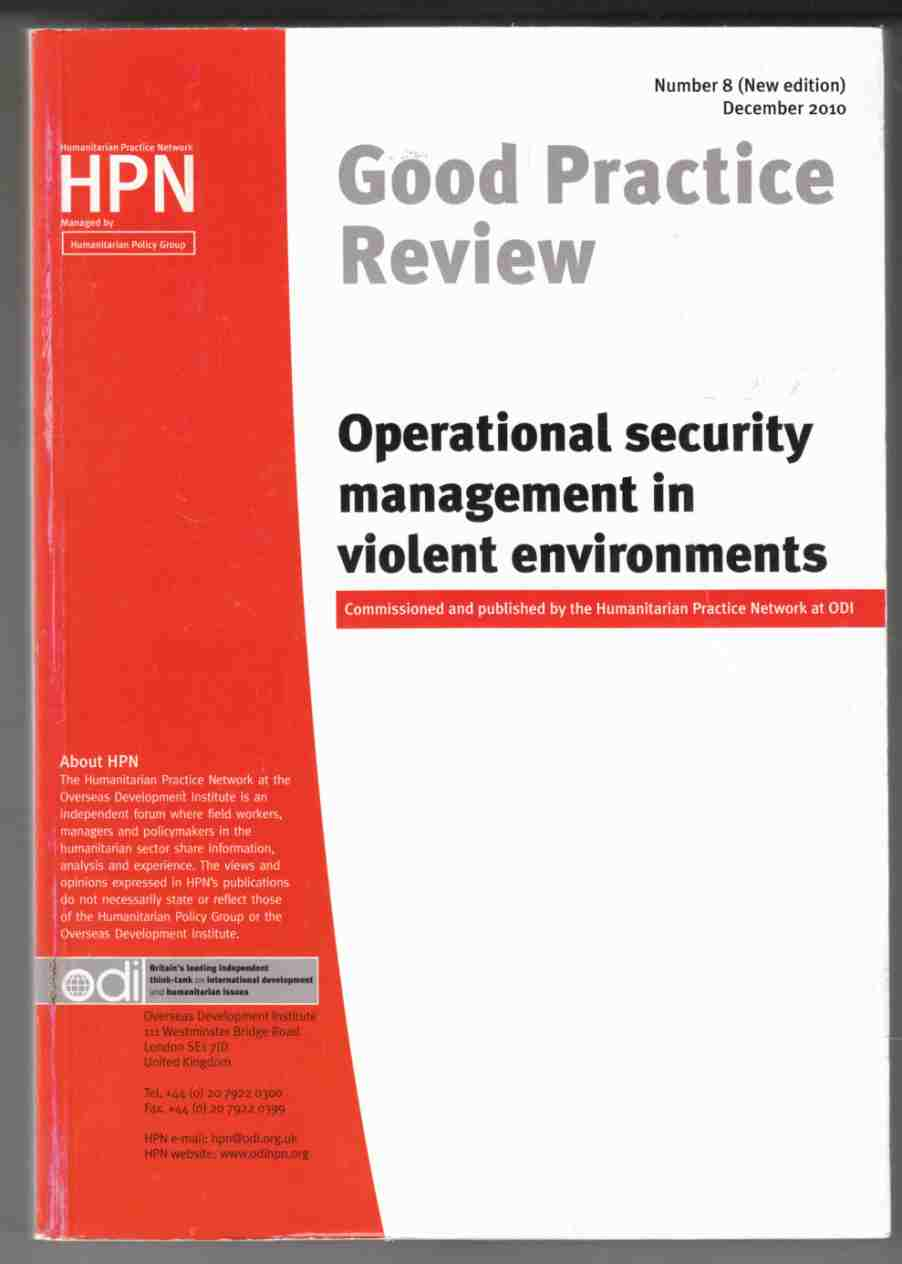 Image for Good Practice Review Operational Security Management in Violent Environments