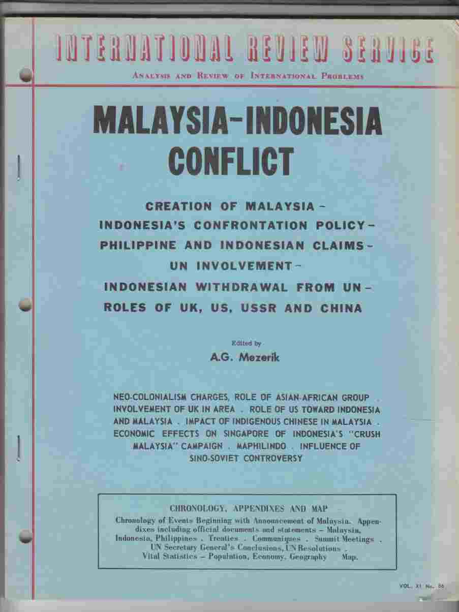Image for Malaysia-Indonesia Conflict Vol. XI No. 86