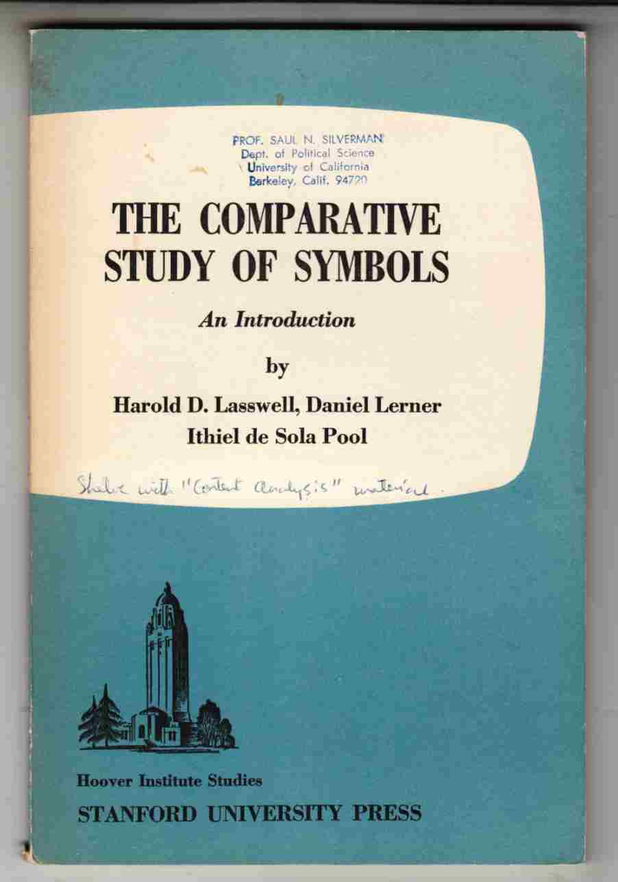 Image for The Comparative Study of Symbols:  An Introduction