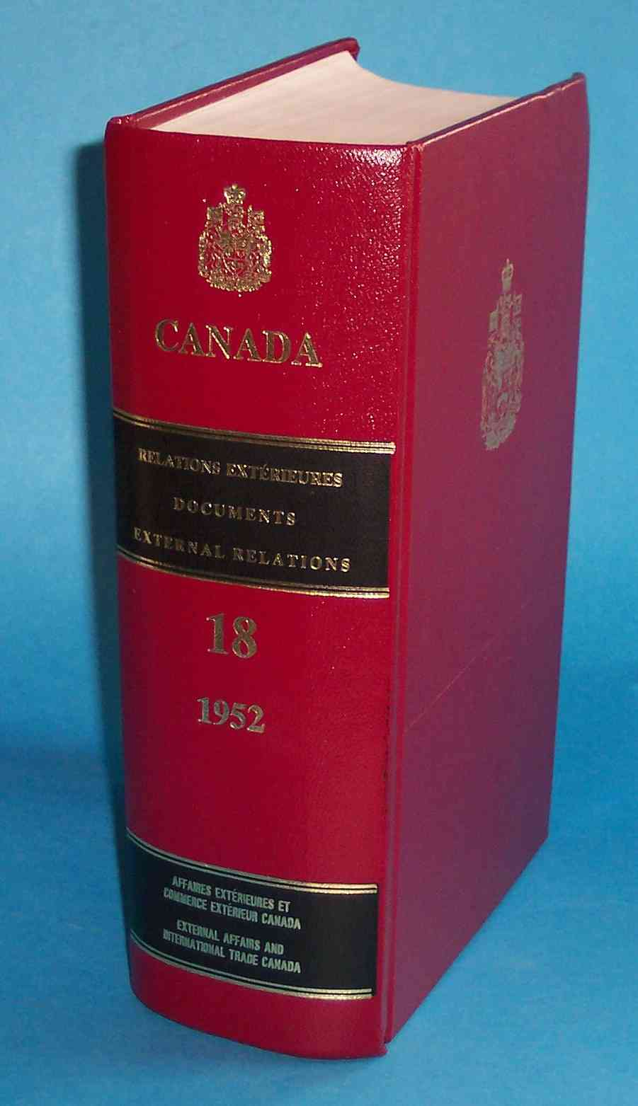 Image for Documents on Canadian External Relations Volume 18 1952