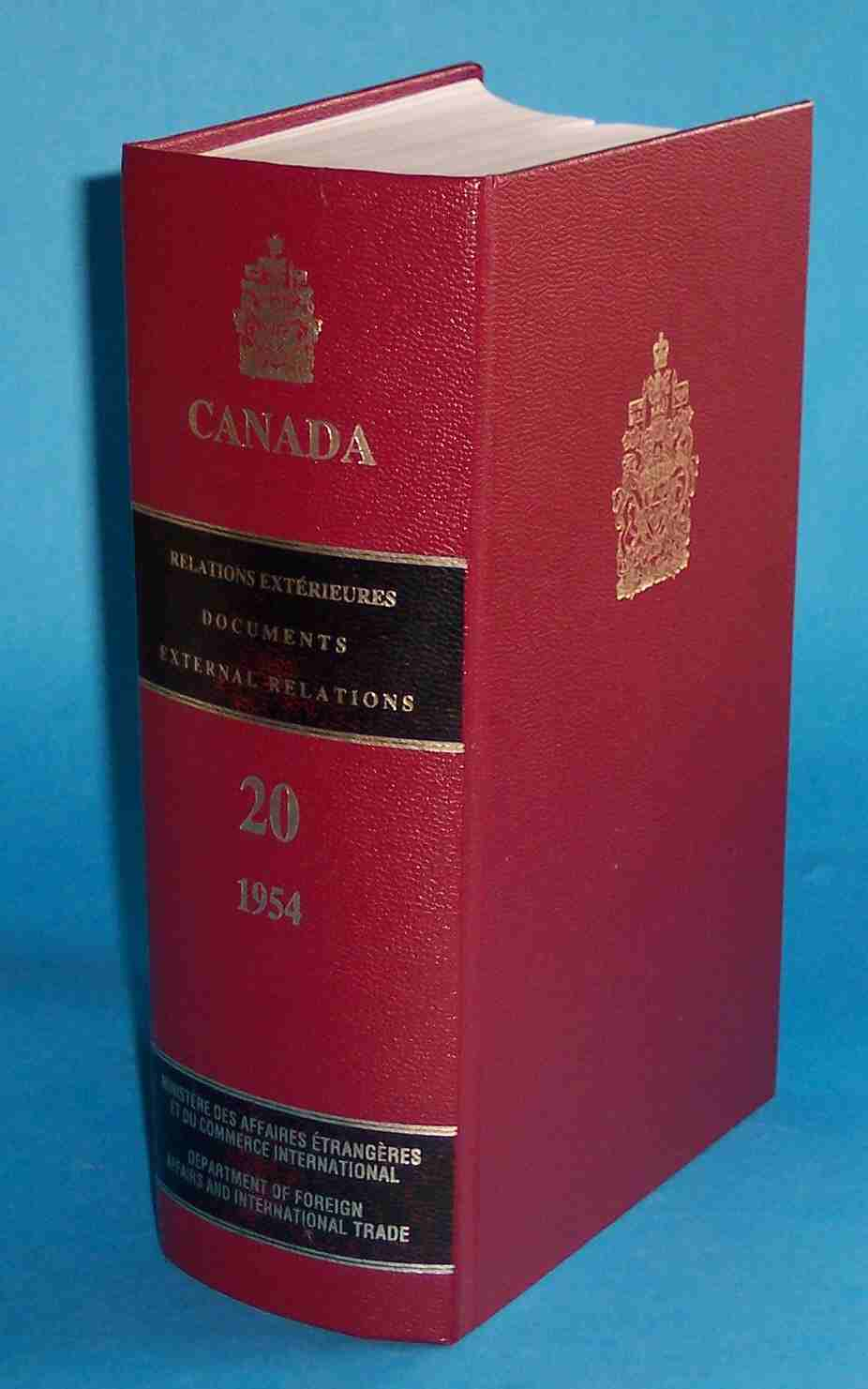 Image for Documents on Canadian External Relations Volume 20 1954