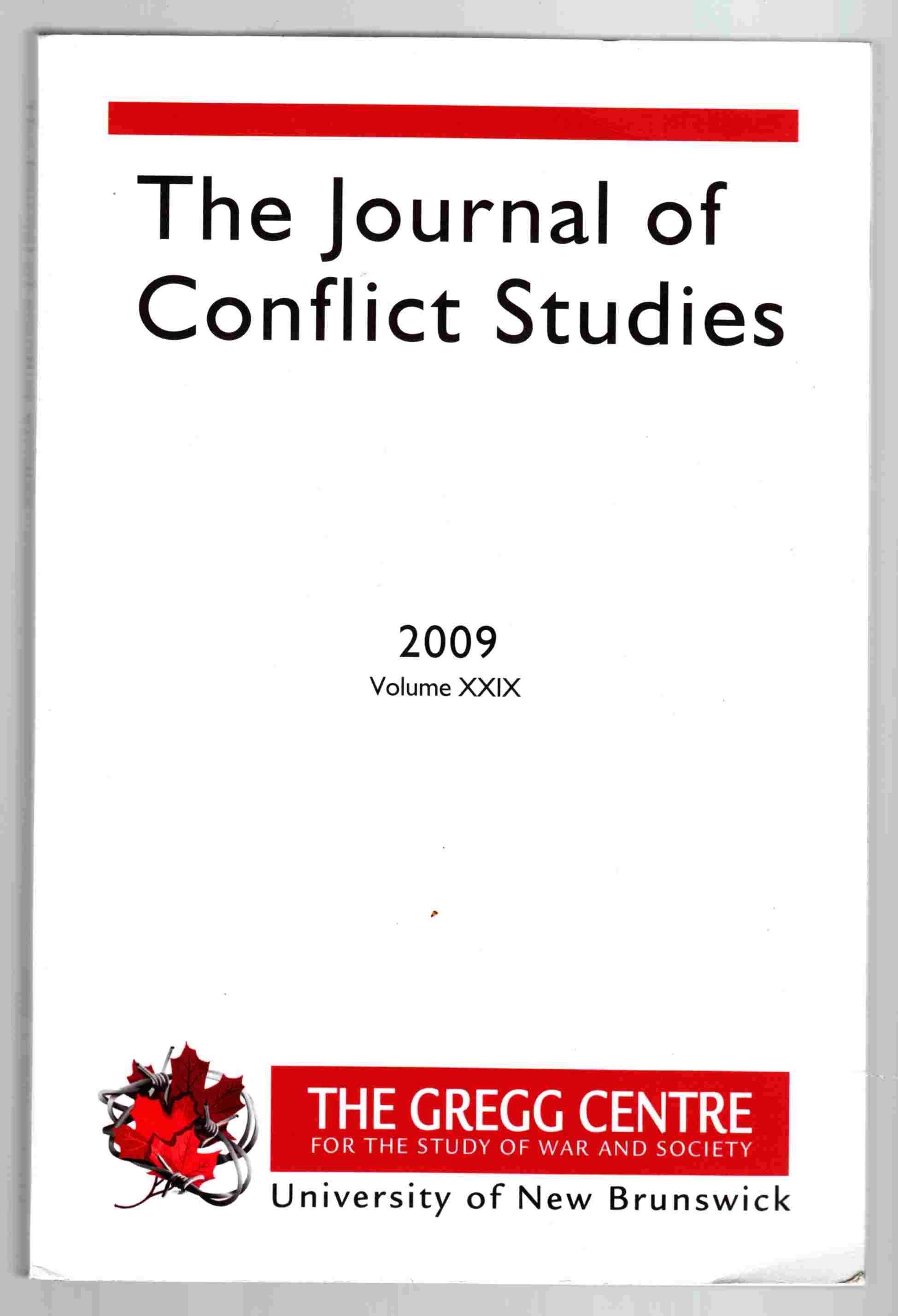Image for The Journal of Conflict Studies 2009 Volume XXIX