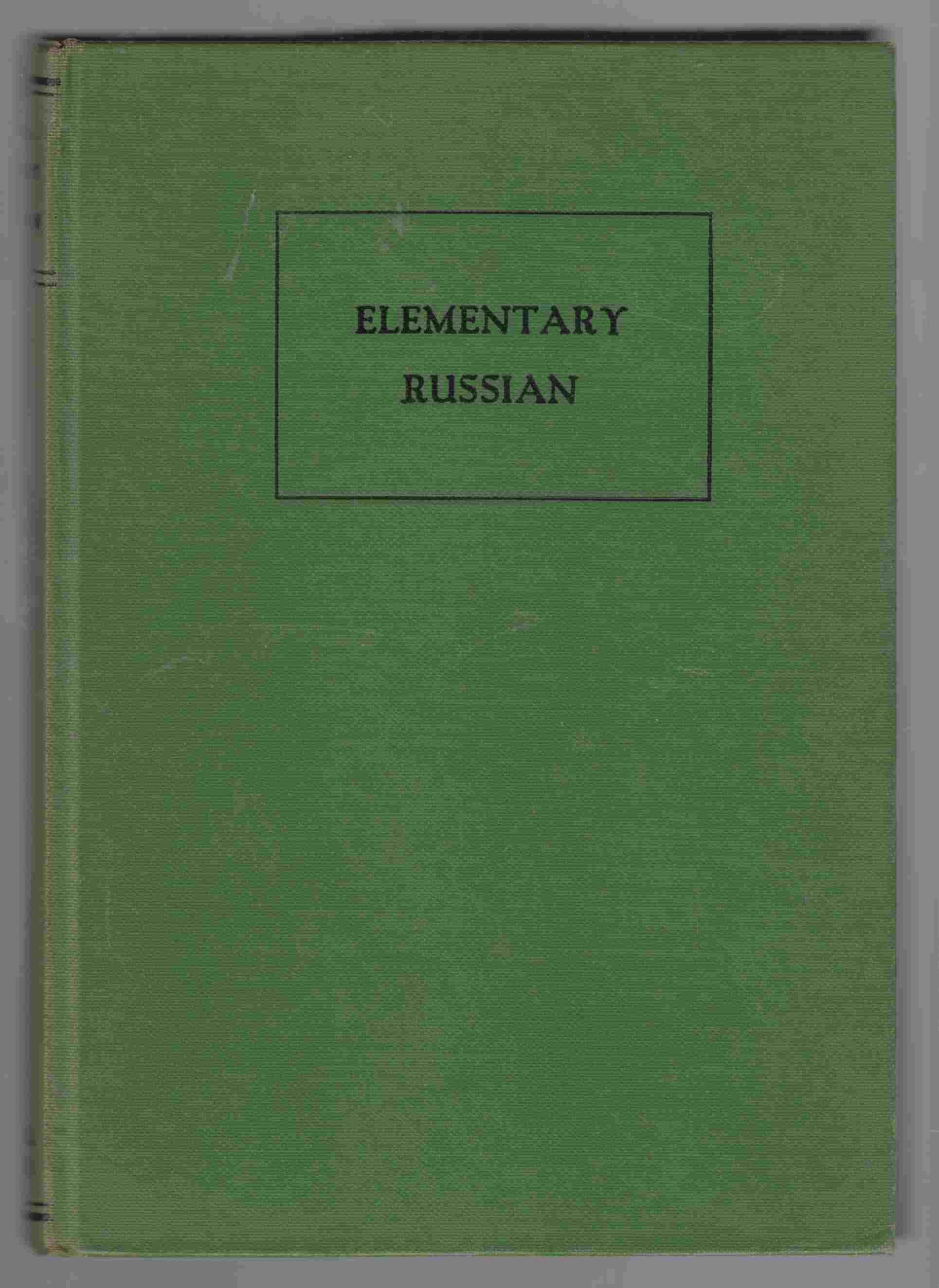 Image for Russian Textbook: Elementary Course
