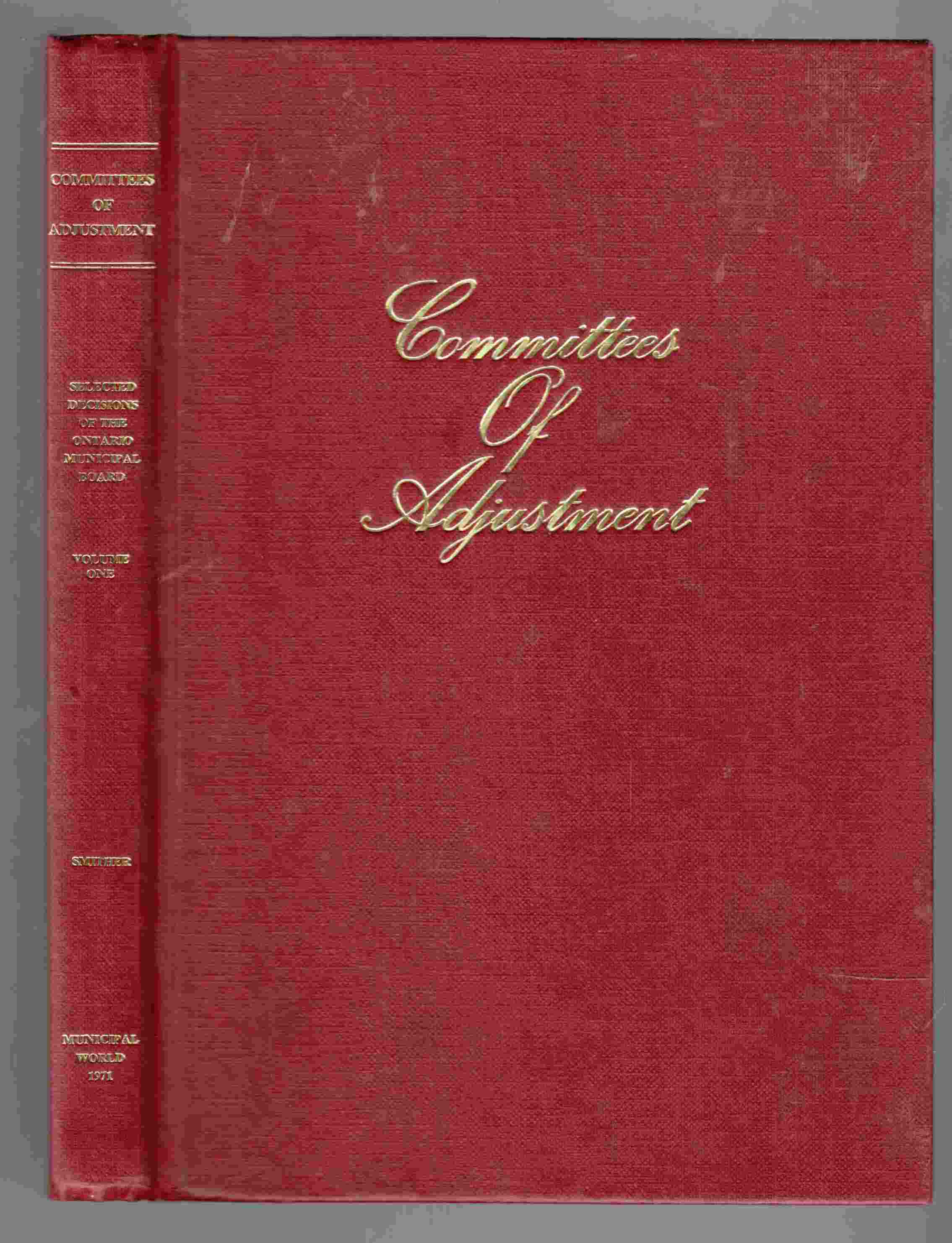 Image for Committees of Adjustment Volume One