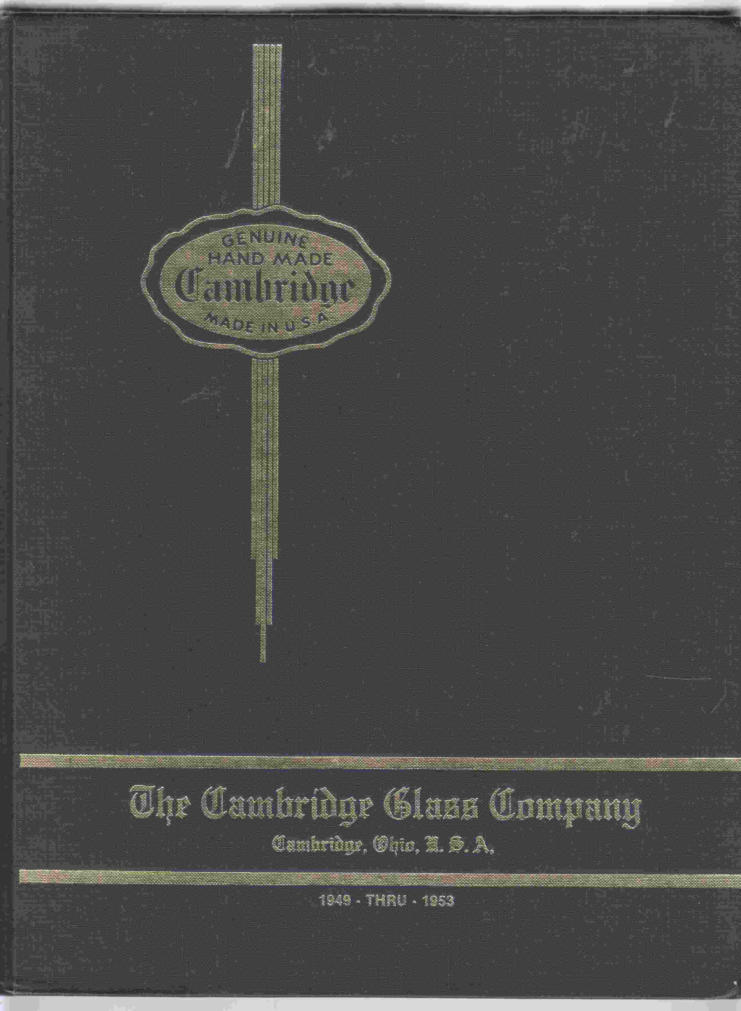 Image for The Cambridge Glass Co. Catalog 1949 Thru 1953