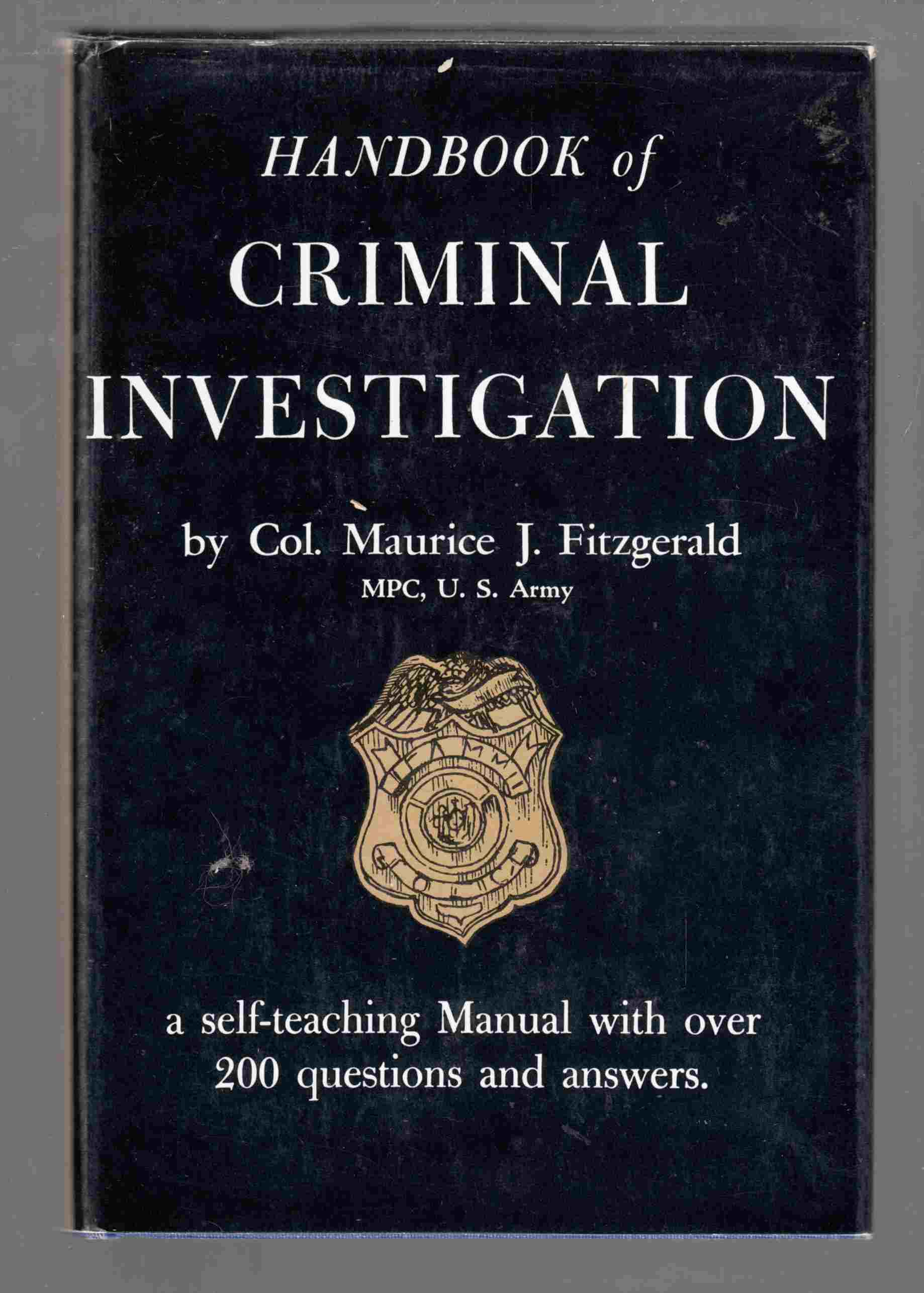 Image for Handbook of Criminal Investigation