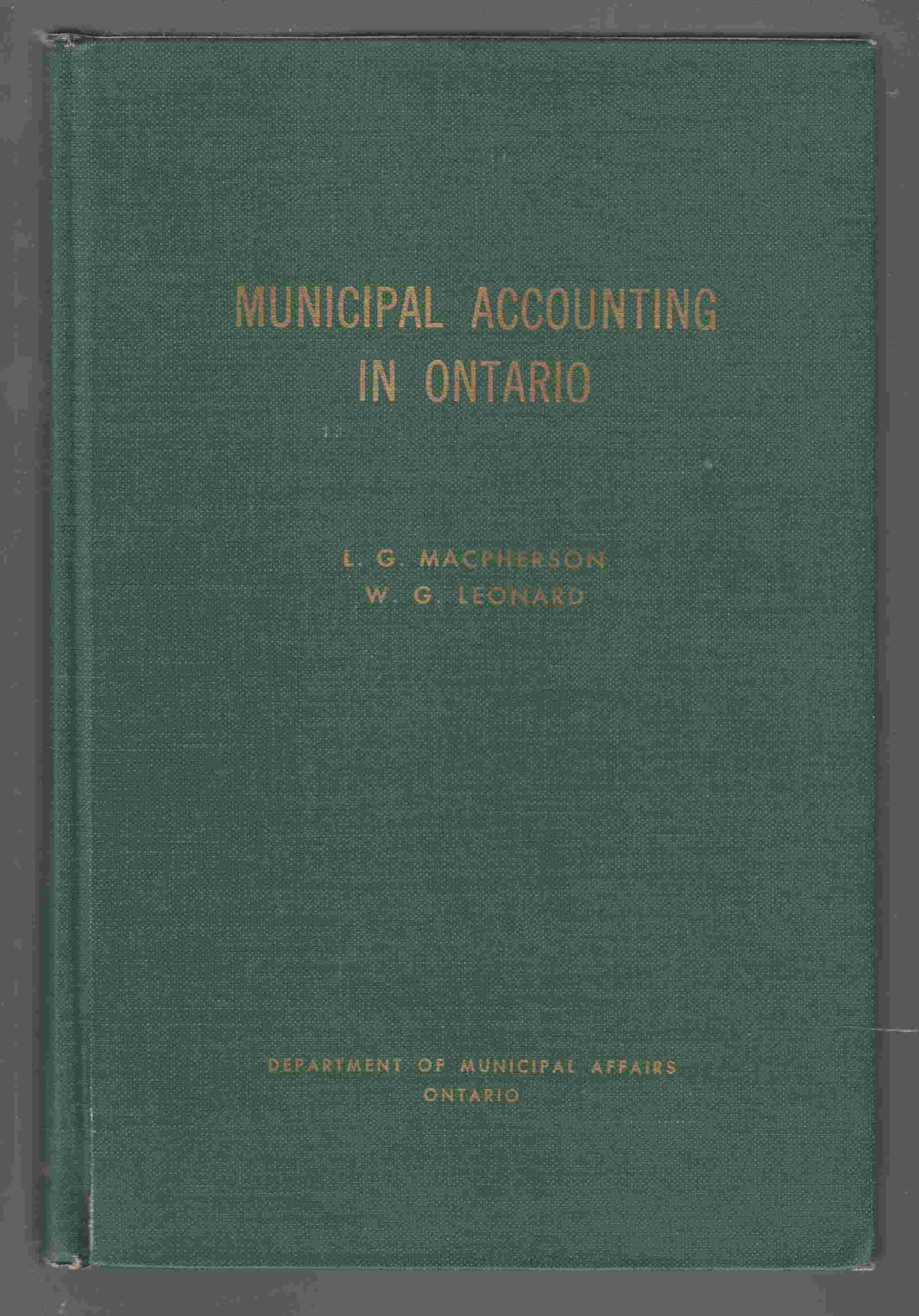 Image for Municipal Accounting in Ontario