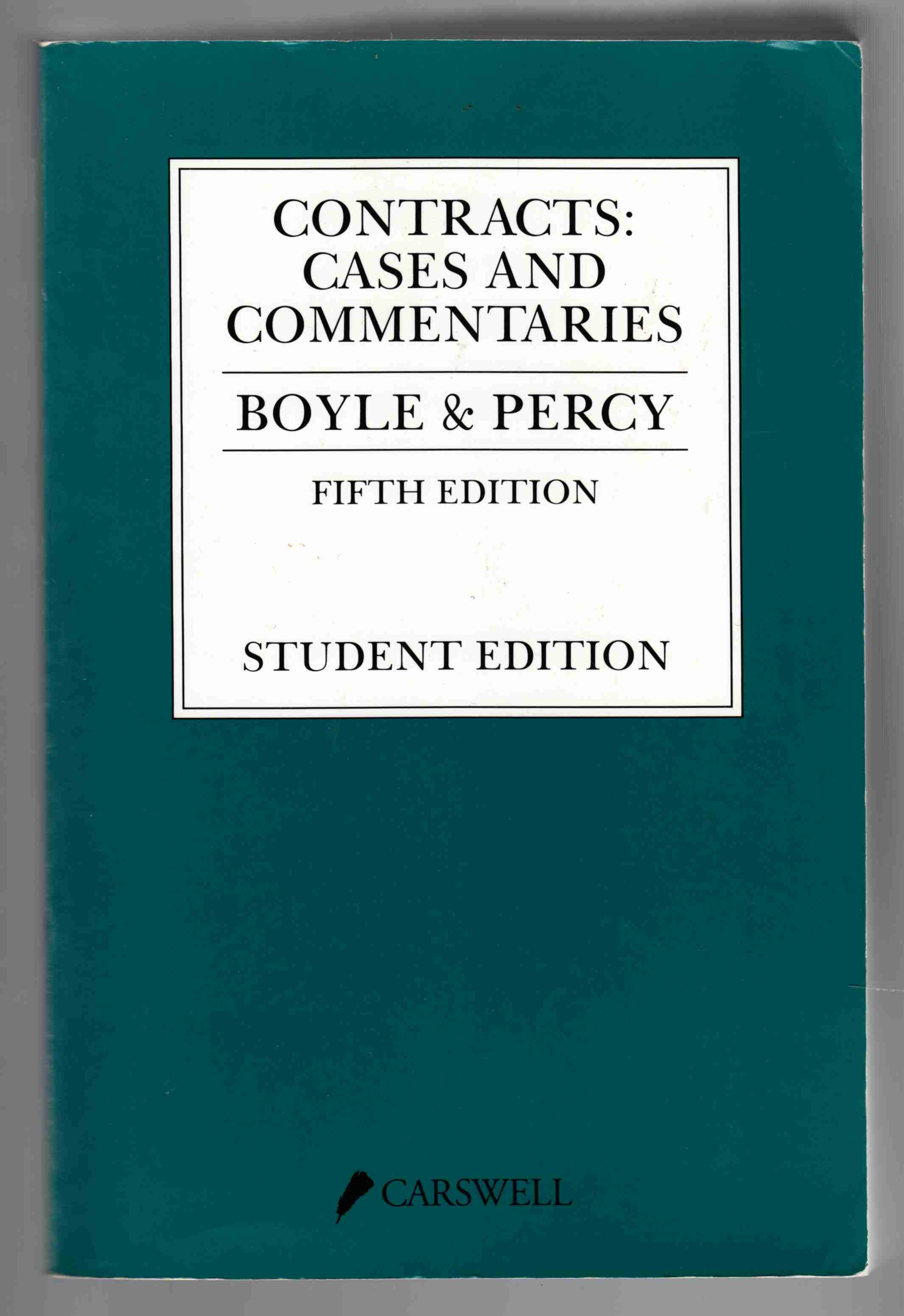 Image for Contracts: Cases and Commentaries Student Edition, Fifth Edition