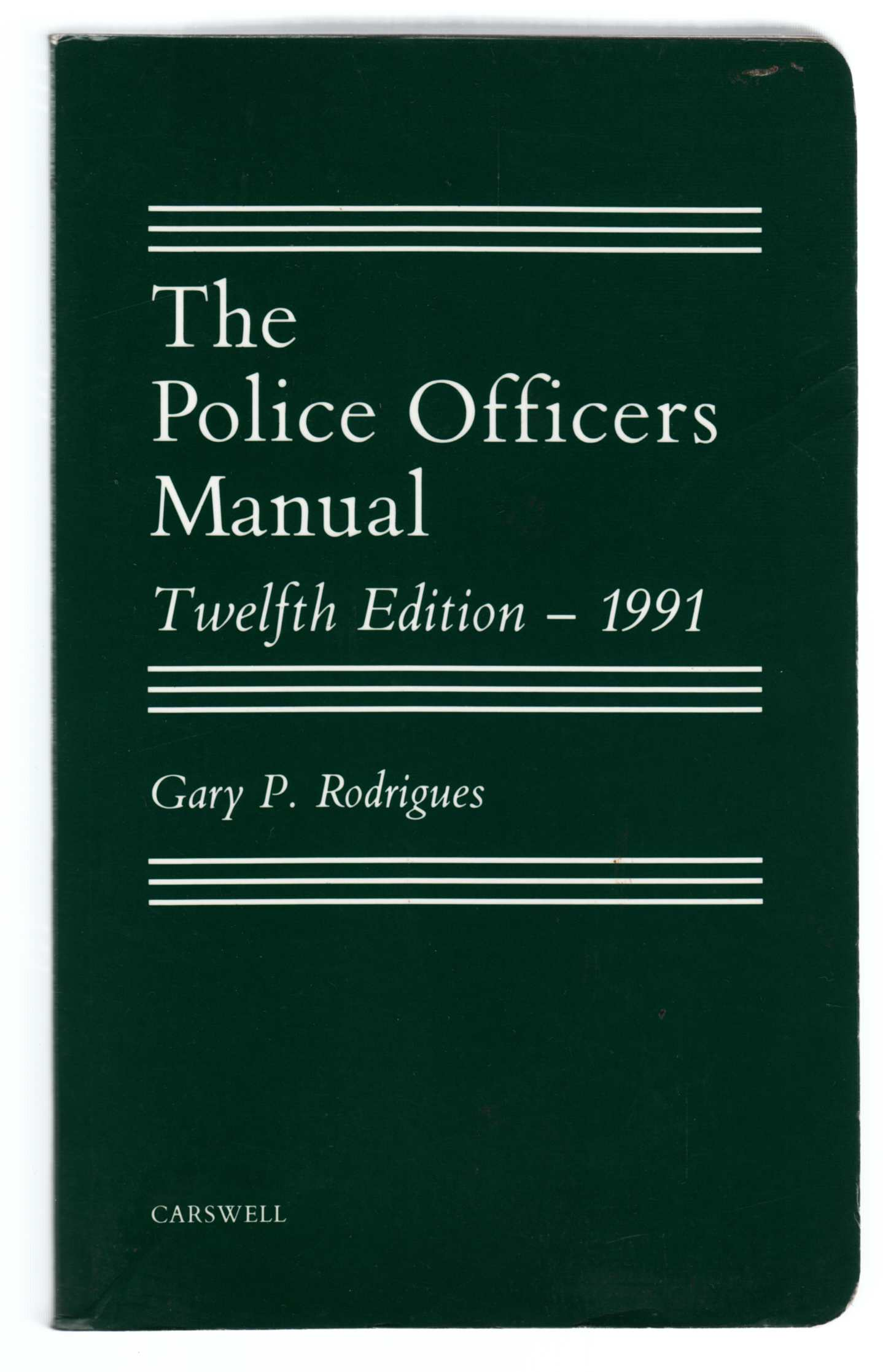 Image for The Police Officers Manual Twelfth Edition - 1991