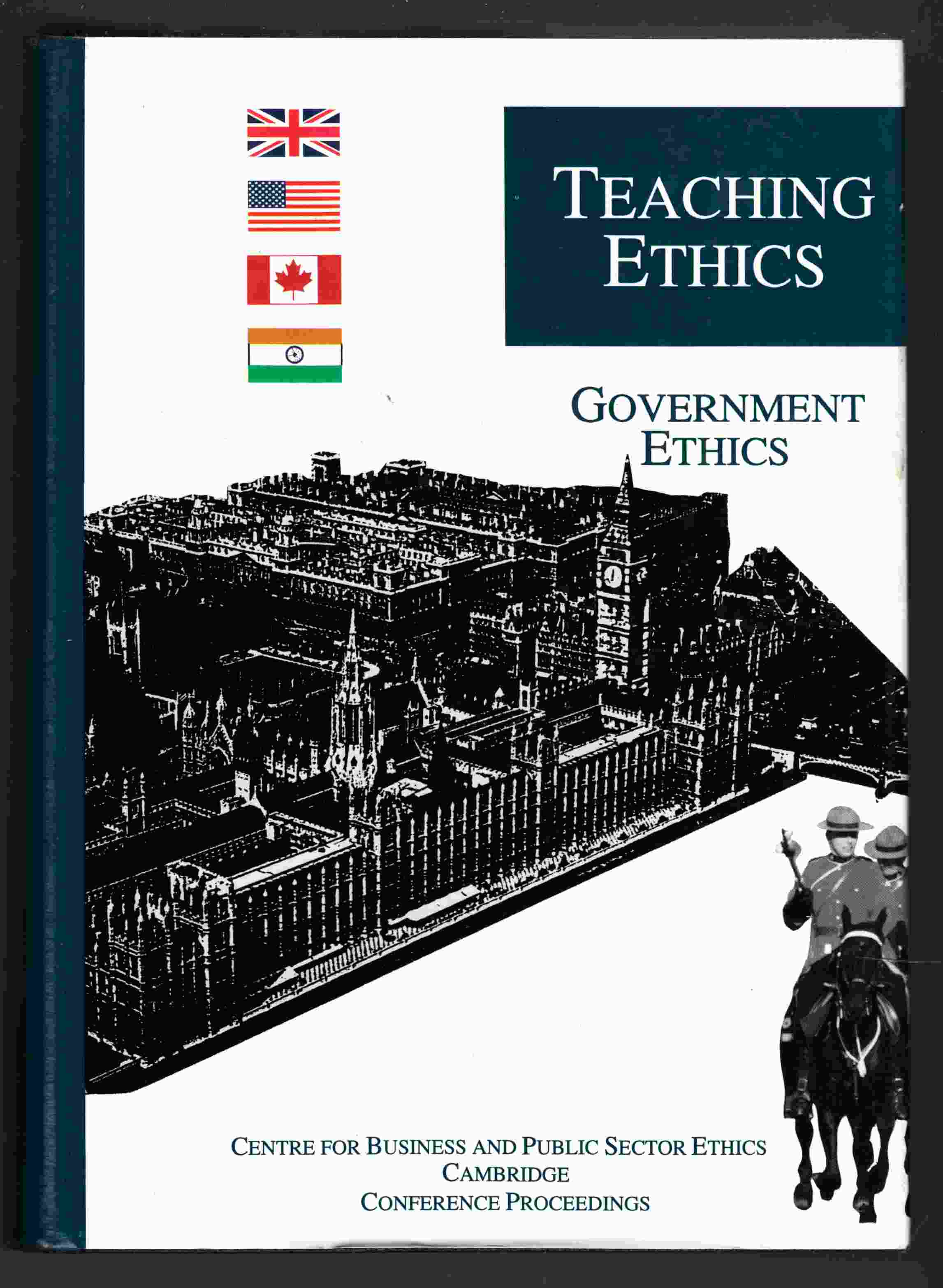 Image for Teaching Ethics Volume One: Government Ethics