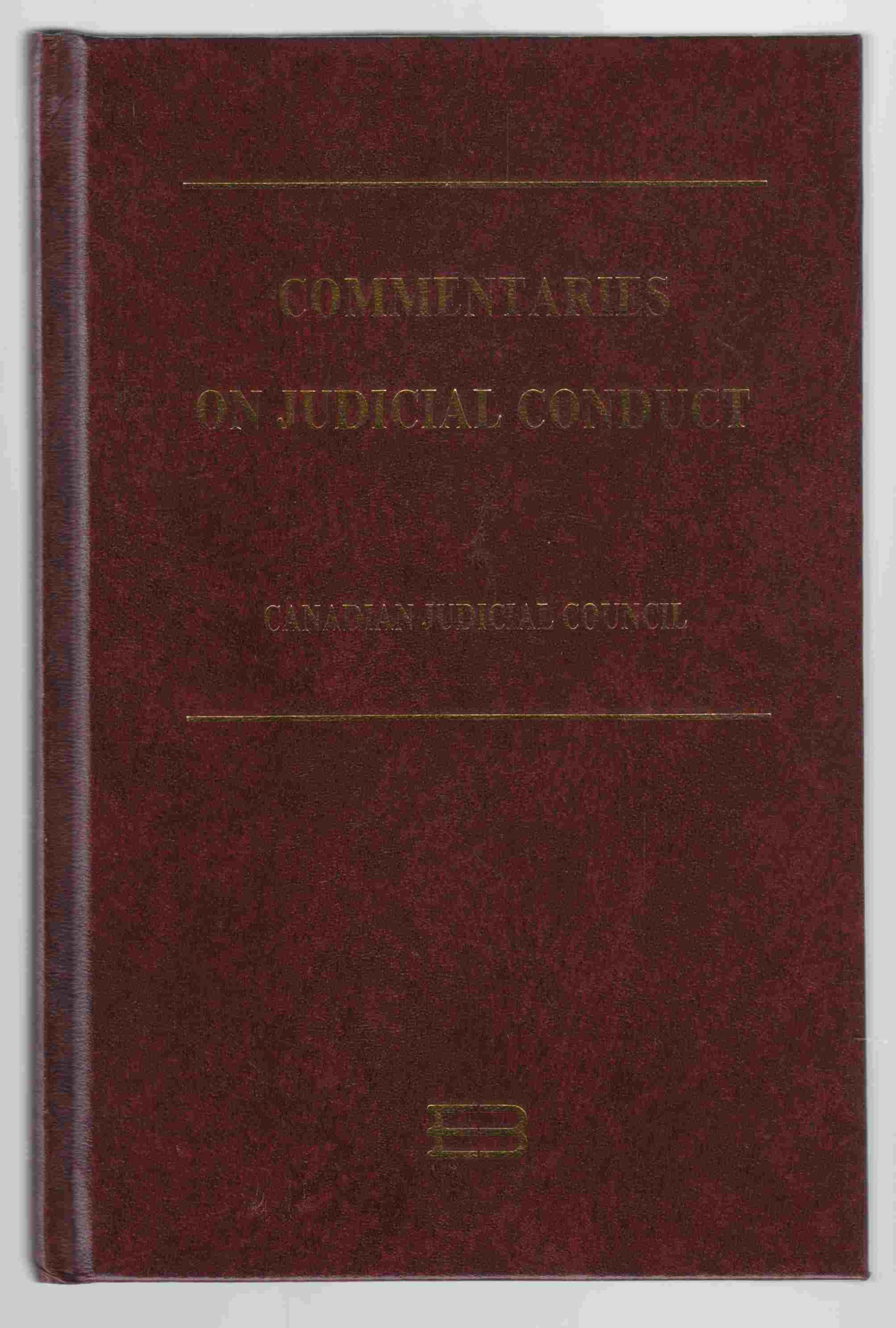Image for Commentaries on Judicial Conduct