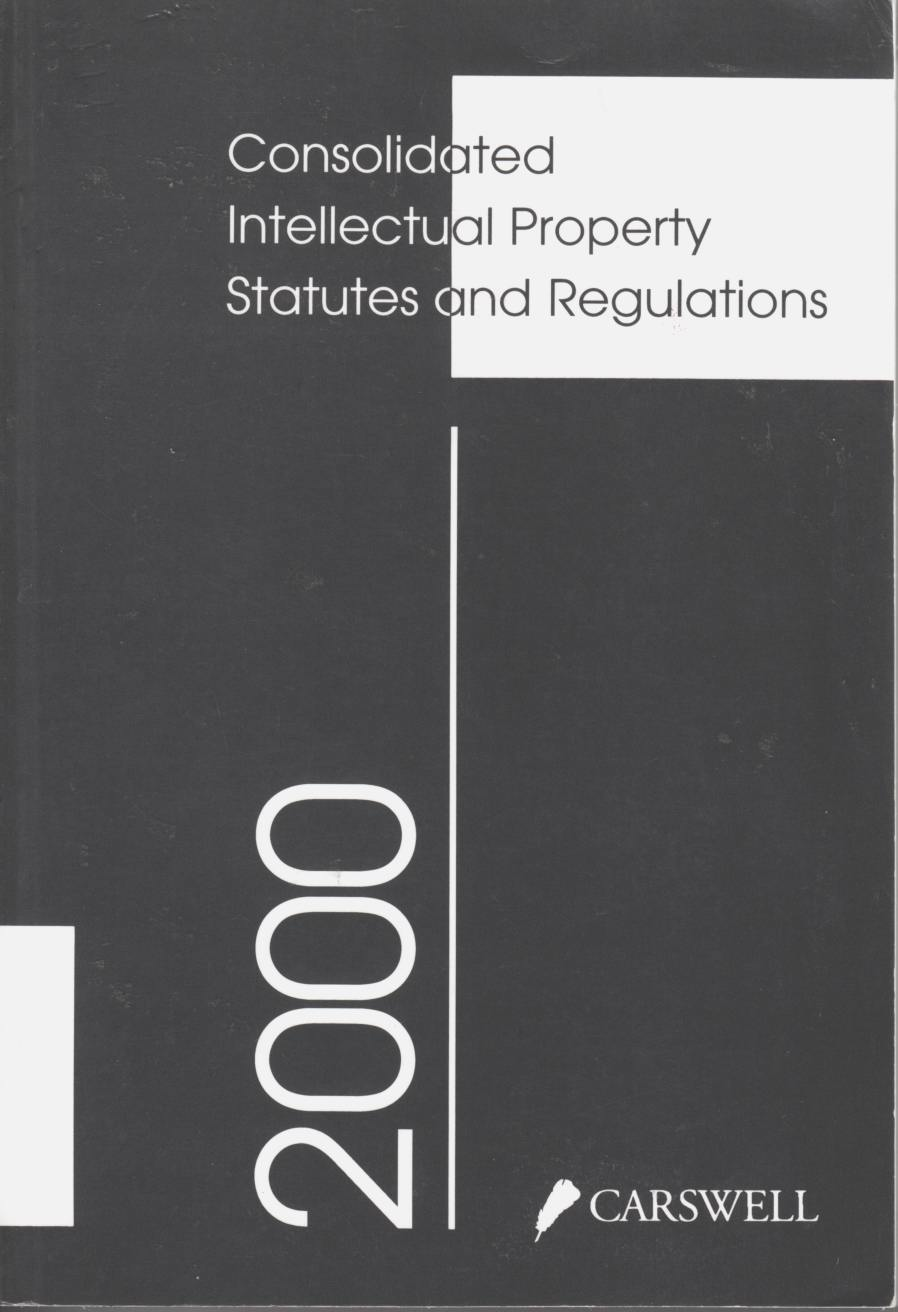 Image for 2000 Consolidated Intellectual Property Statutes and Regulations