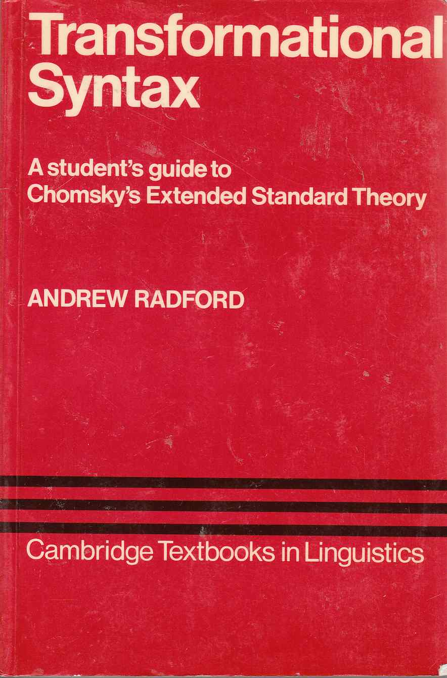 Image for Transformational Syntax A Student's Guide to Chomsky's Extended Standard Theory