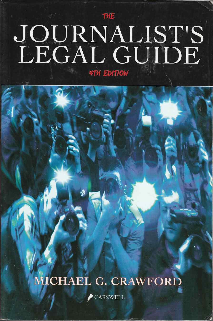 Image for The Journalist's Legal Guide 4th Edition