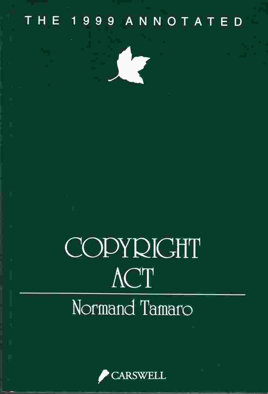 Image for The 1999 Annotated Copyright Act