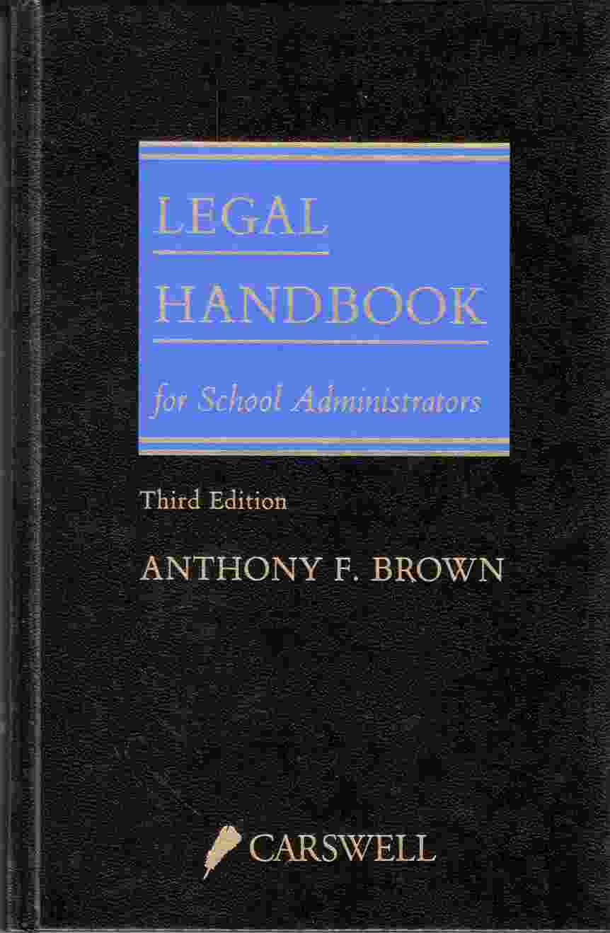 Image for Legal Handbook for School Administrators Third Edition
