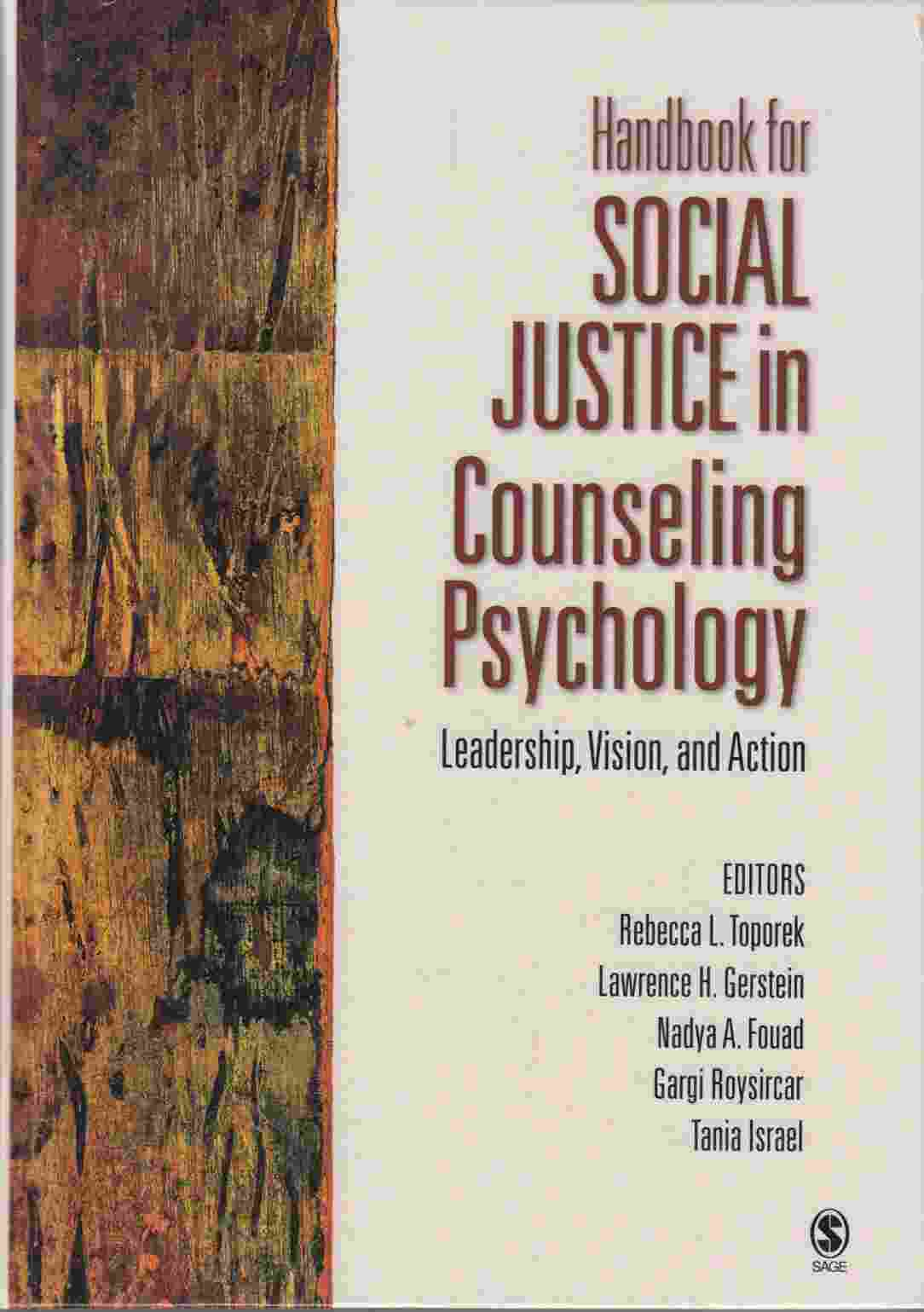 Image for Handbook for Social Justice in Counselling Psychology:  Leadership, Vision, Action