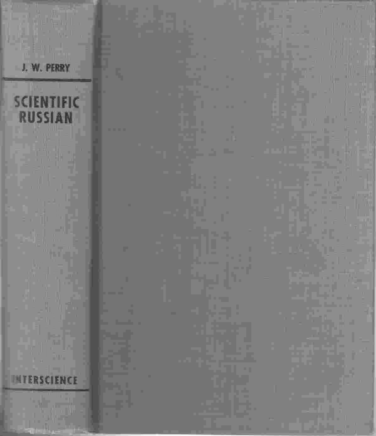 Image for Scientific Russian:  A Textbook for Classes and Self-Study