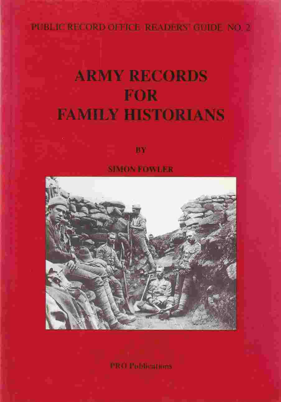 Image for Army Records for Family Historians