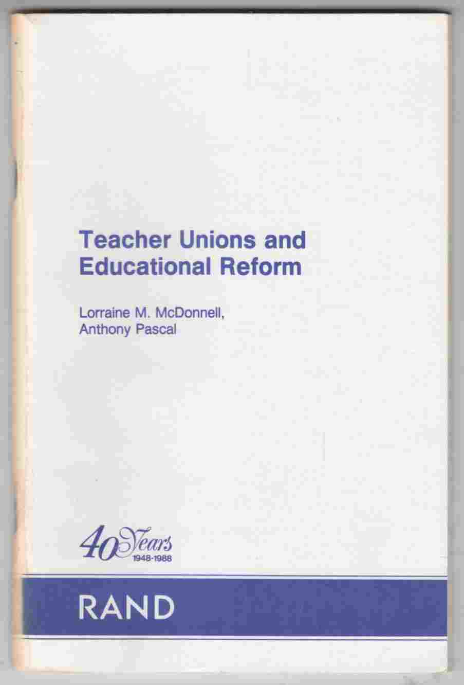 Image for Teacher Unions and Educational Reform